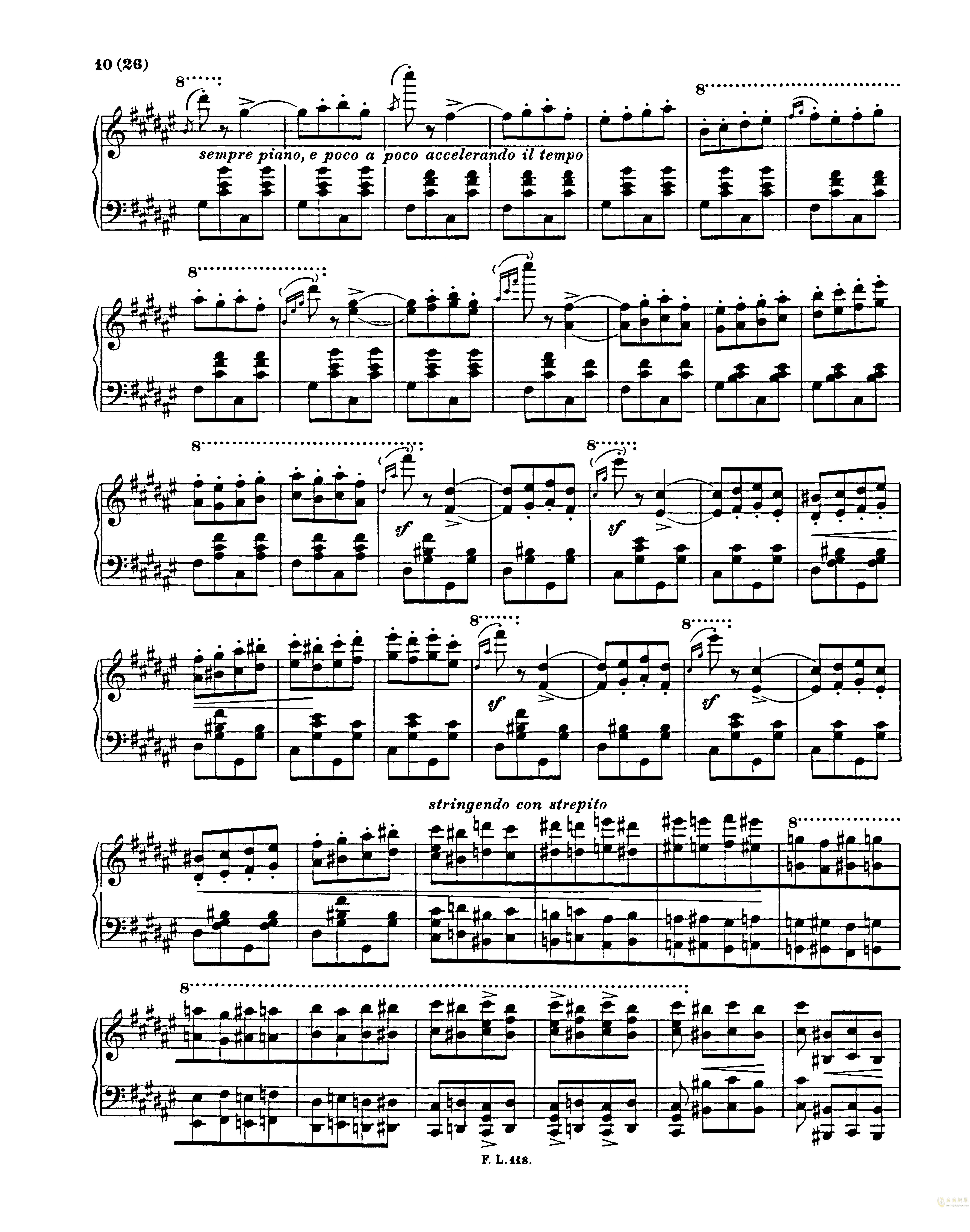 匈牙利狂想曲第二号钢琴谱 第10页
