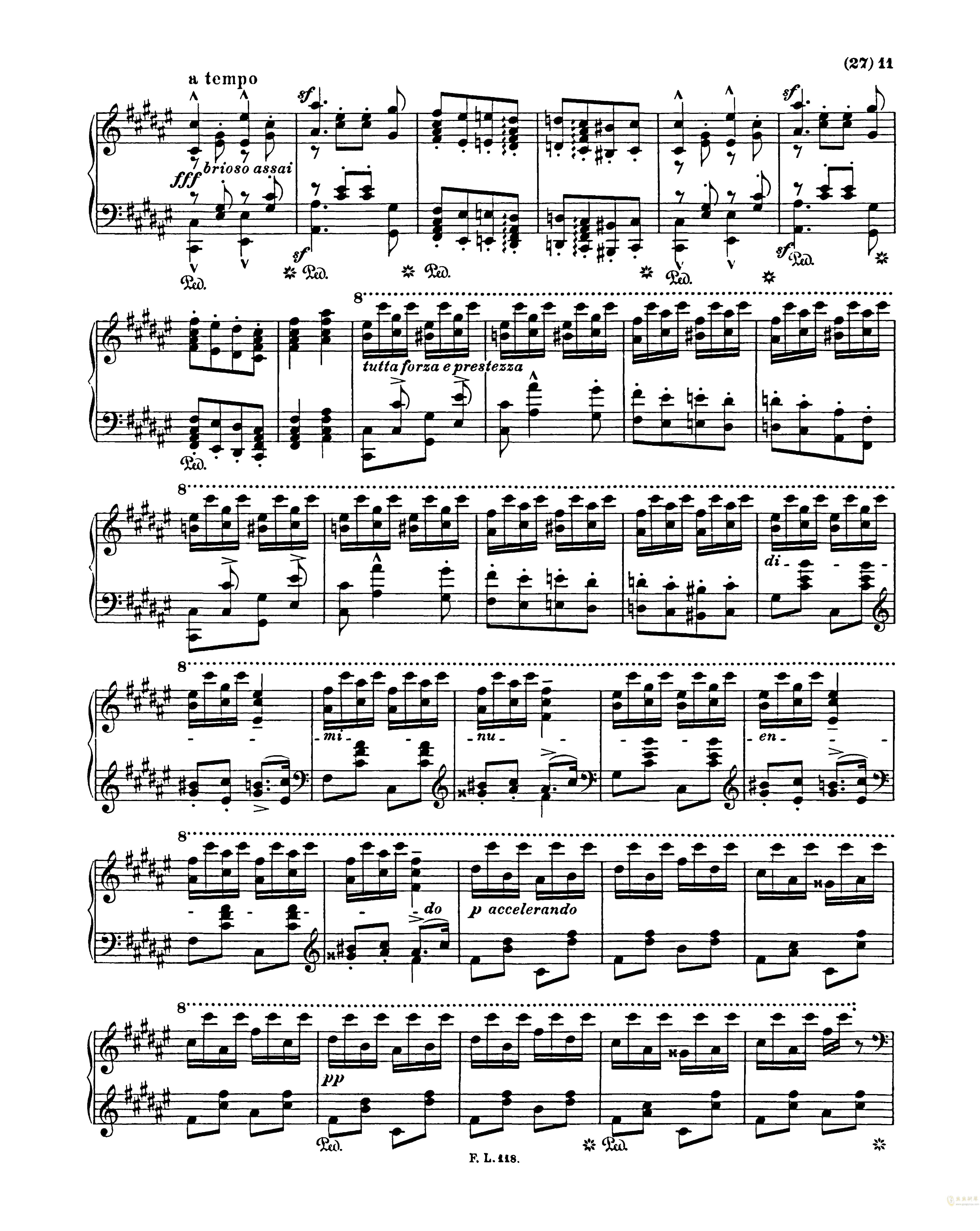 匈牙利狂想曲第二号钢琴谱 第11页