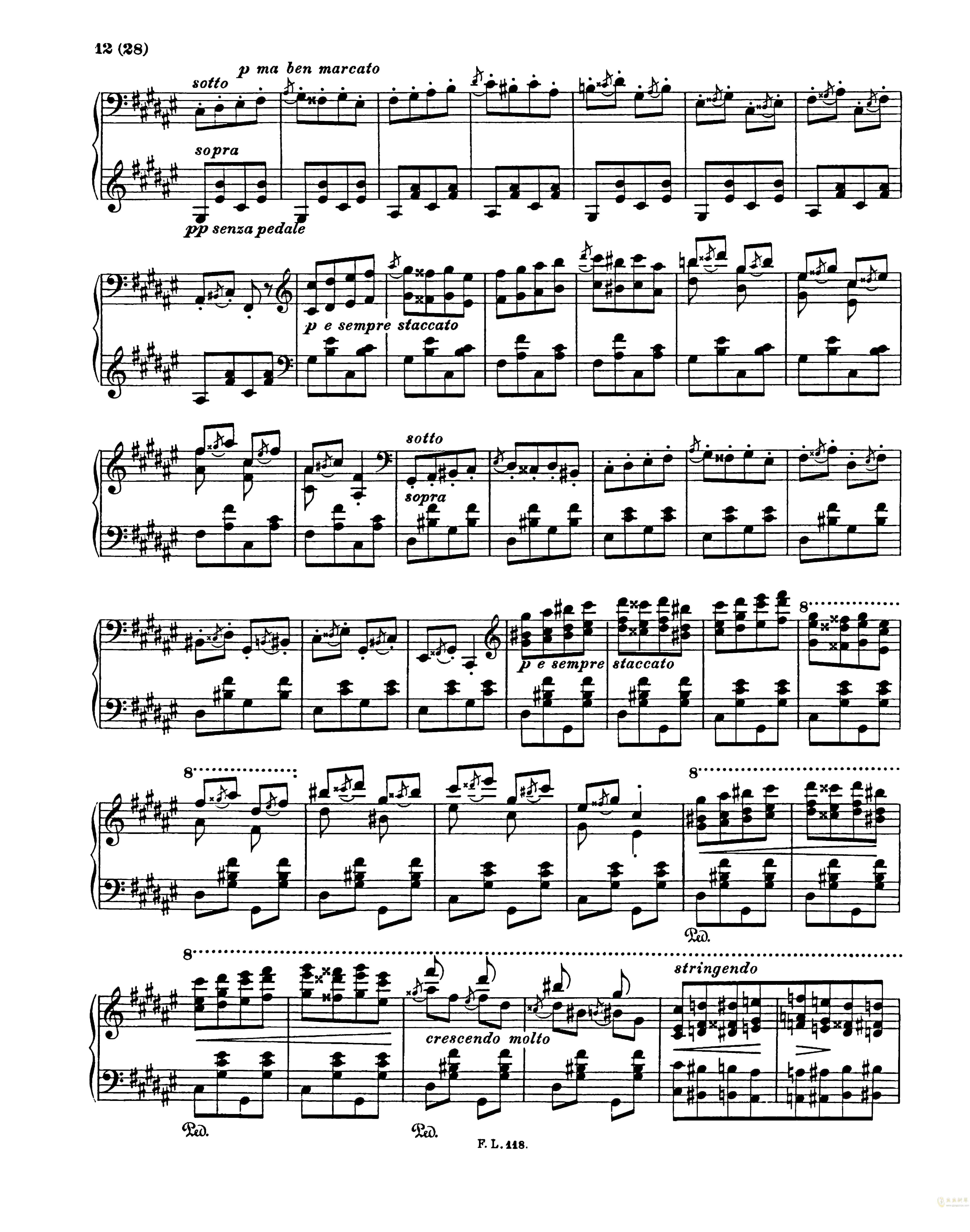 匈牙利狂想曲第二号钢琴谱 第12页