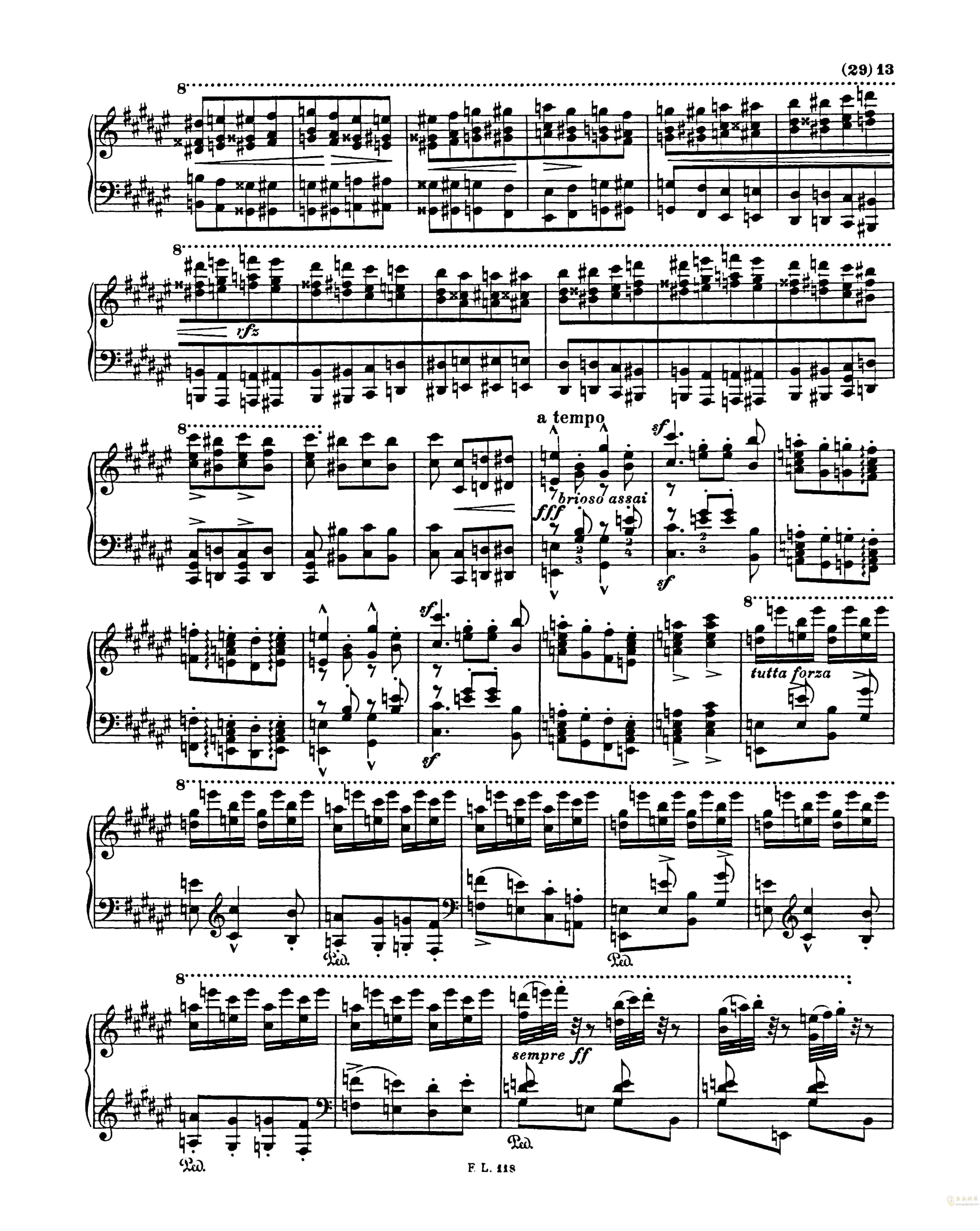 匈牙利狂想曲第二号钢琴谱 第13页