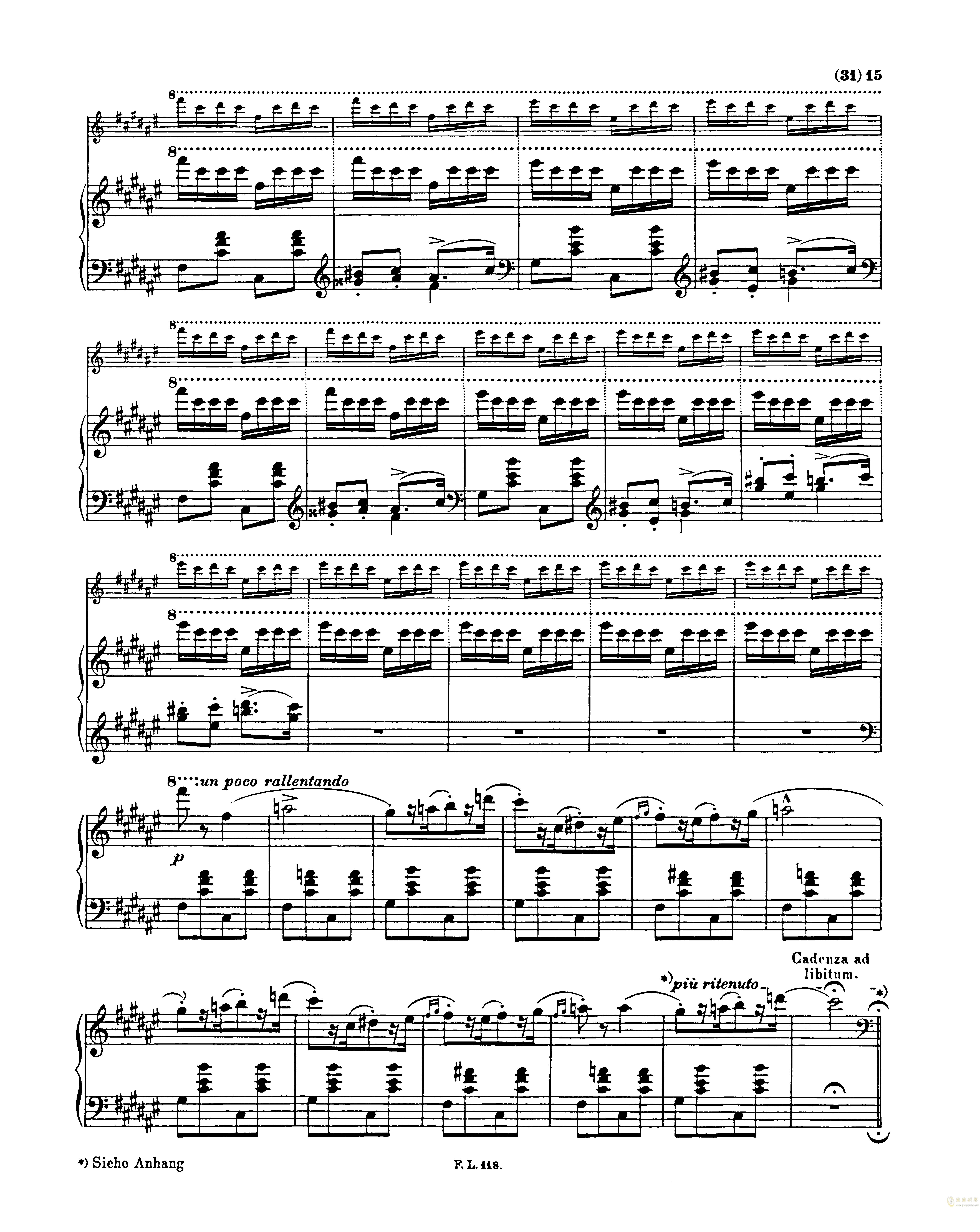 匈牙利狂想曲第二号钢琴谱 第15页