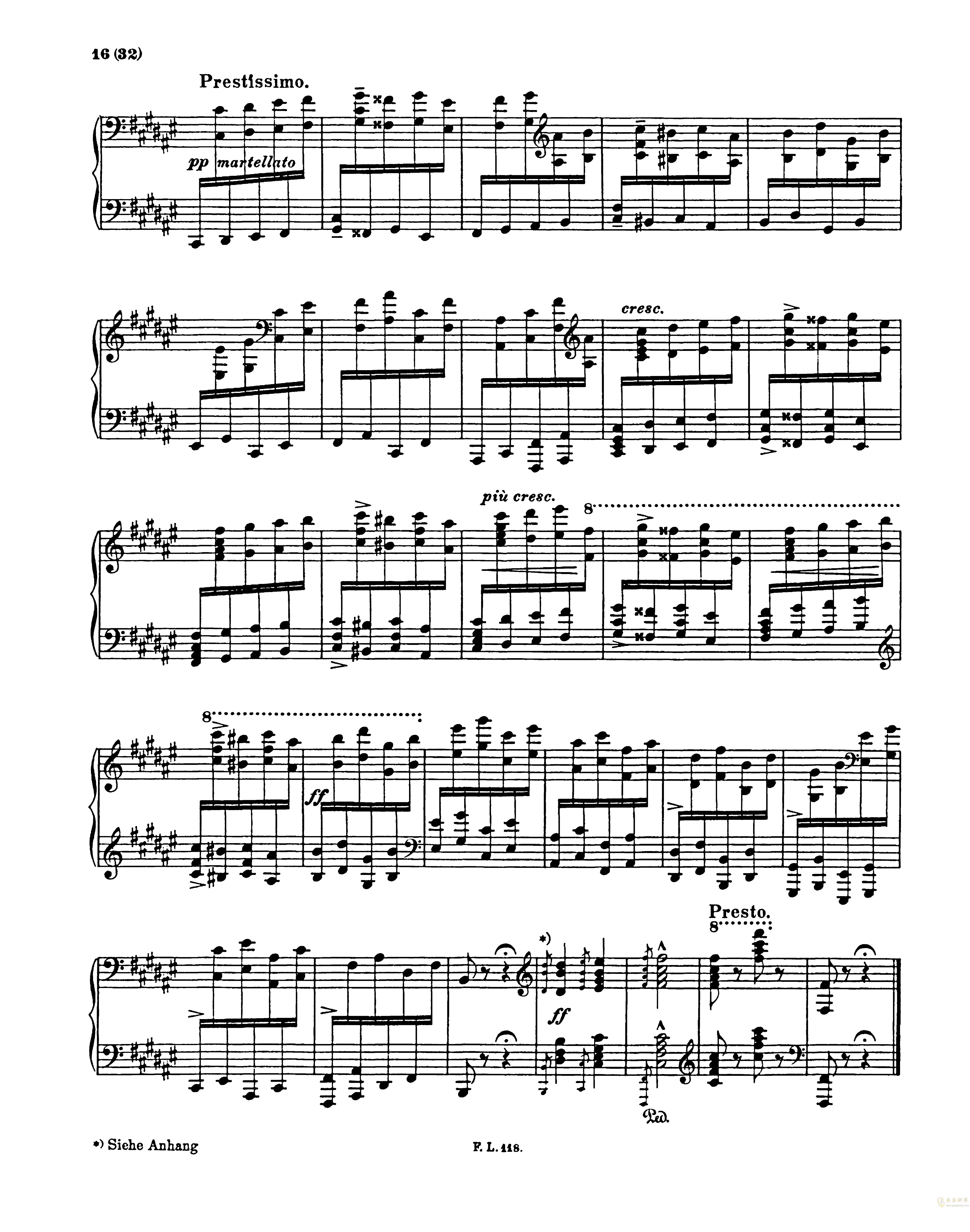 匈牙利狂想曲第二号钢琴谱 第16页