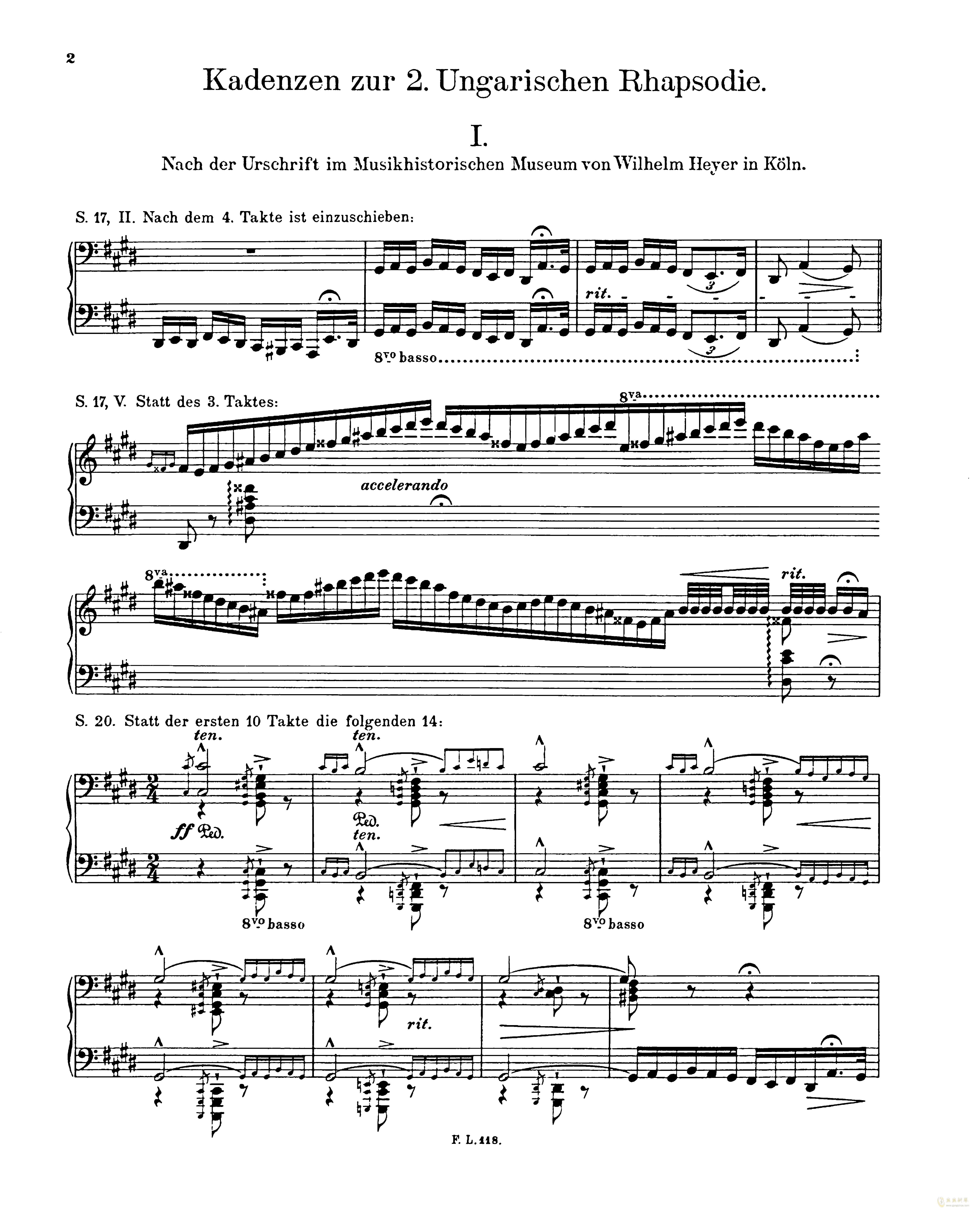 匈牙利狂想曲第二号钢琴谱 第18页