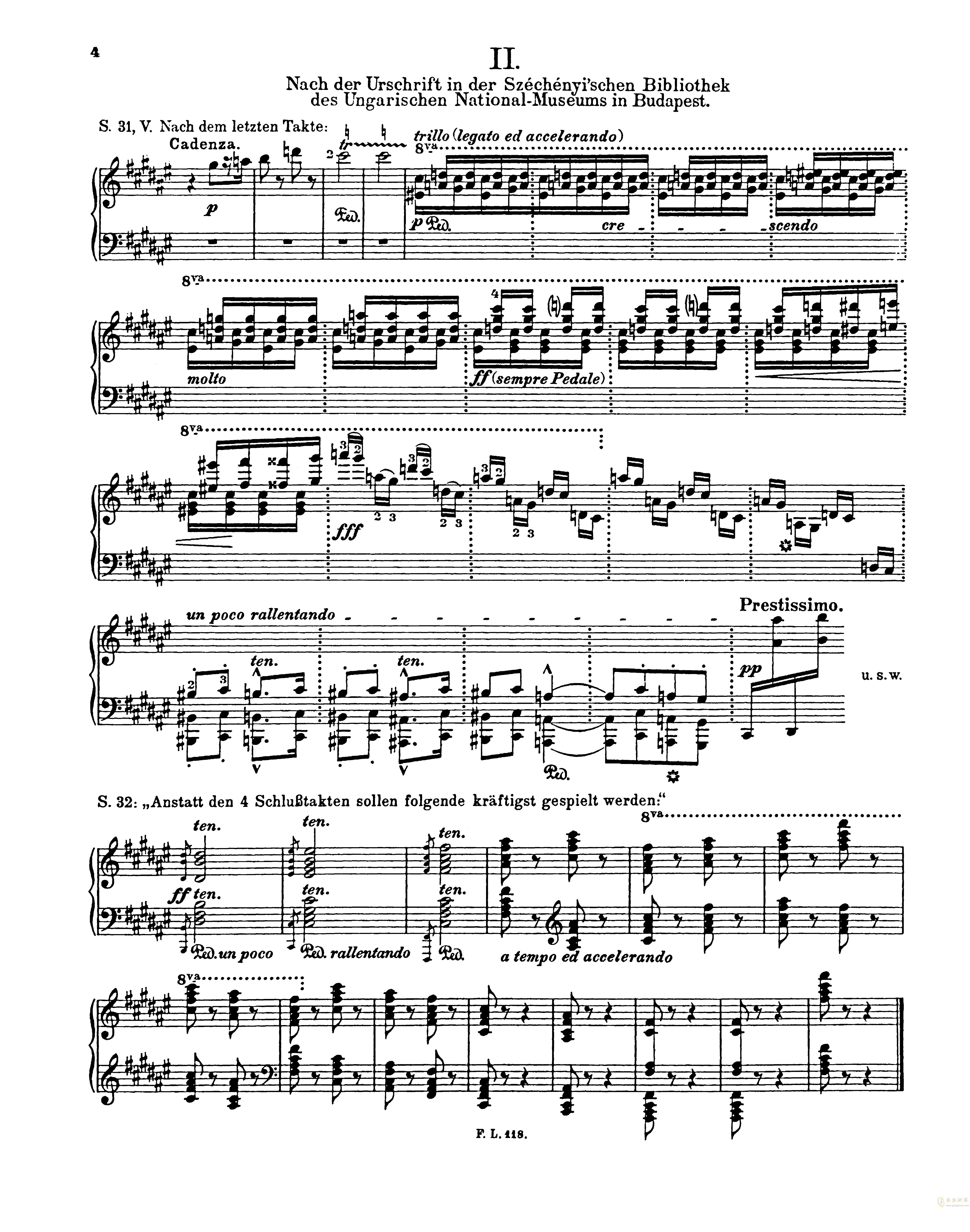 匈牙利狂想曲第二号钢琴谱 第20页