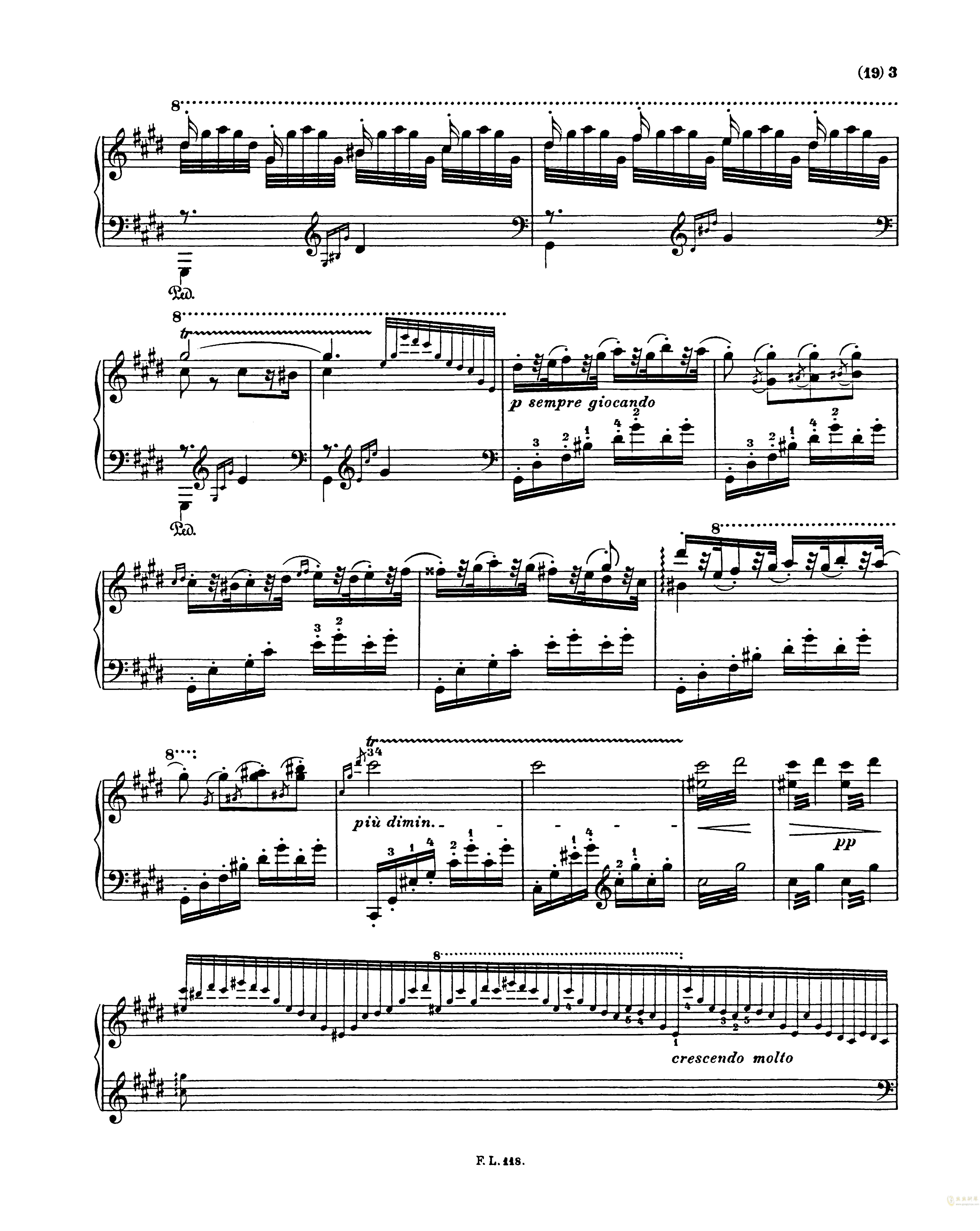 匈牙利狂想曲第二号钢琴谱 第3页