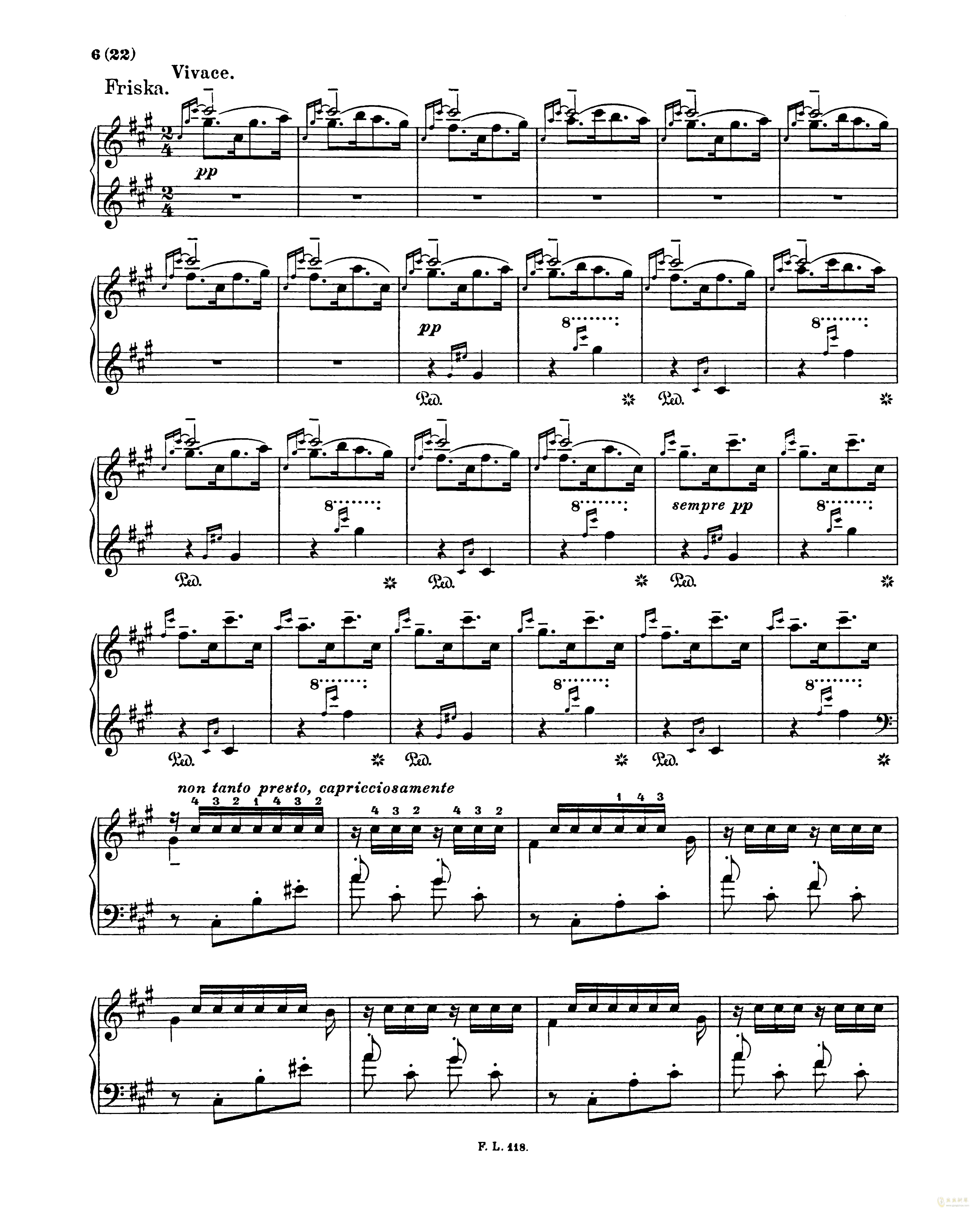匈牙利狂想曲第二号钢琴谱 第6页