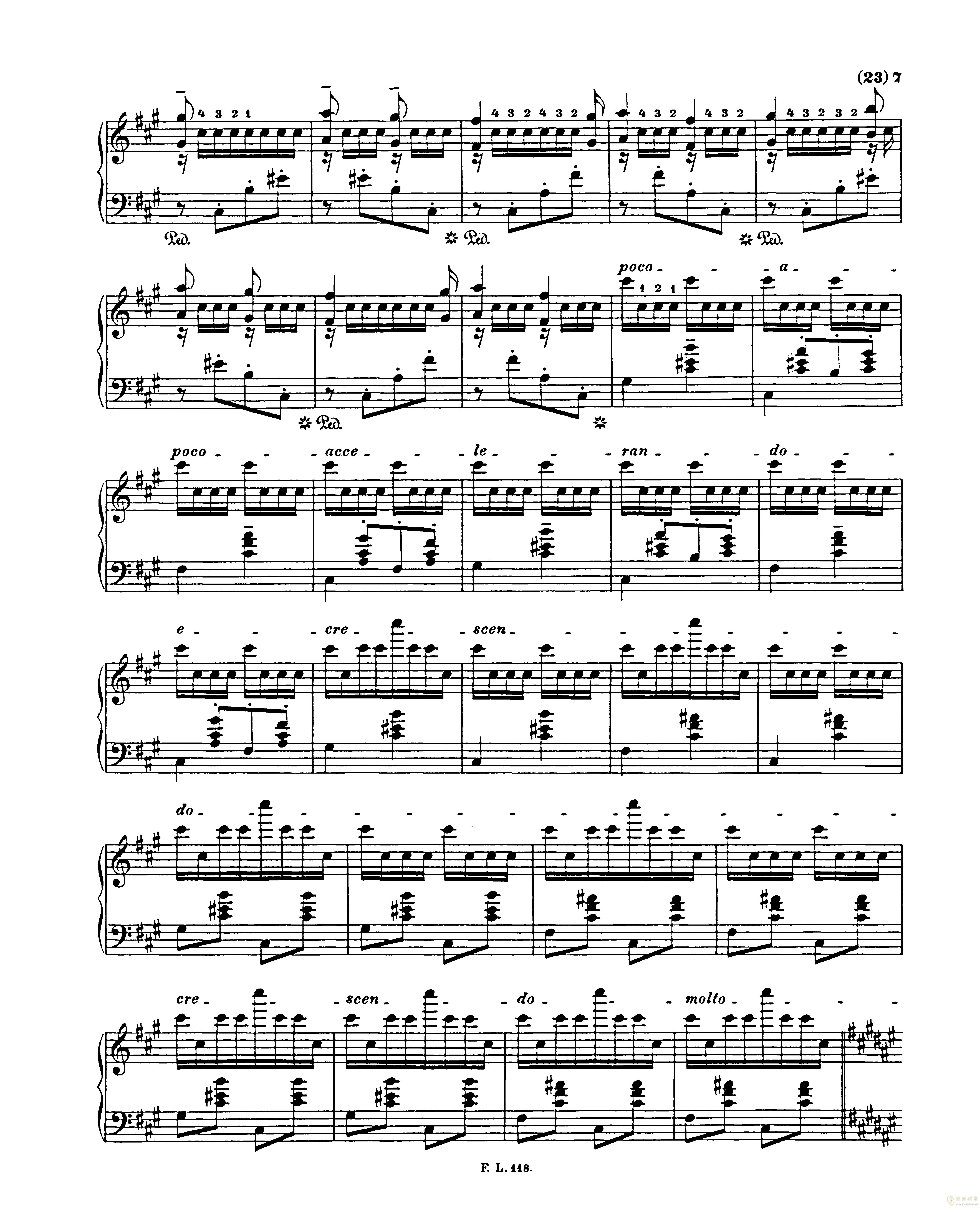 匈牙利狂想曲第二号钢琴谱 第7页