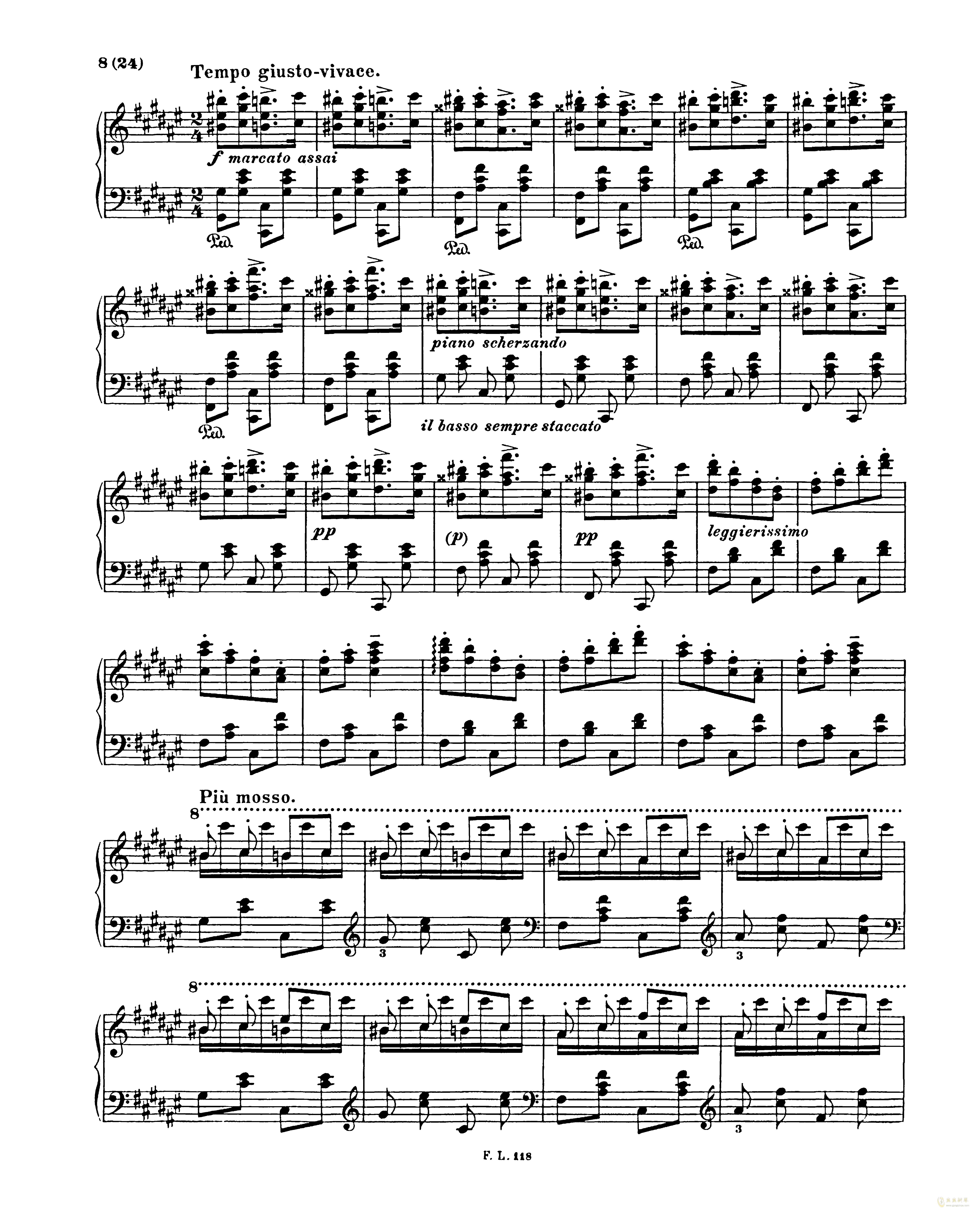匈牙利狂想曲第二号钢琴谱 第8页