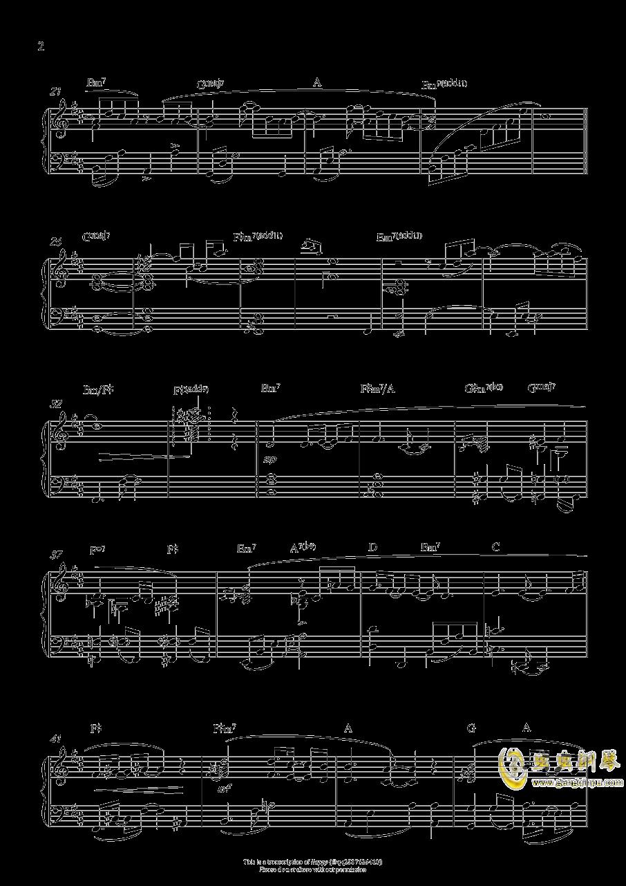赤い�s束钢琴谱 第2页