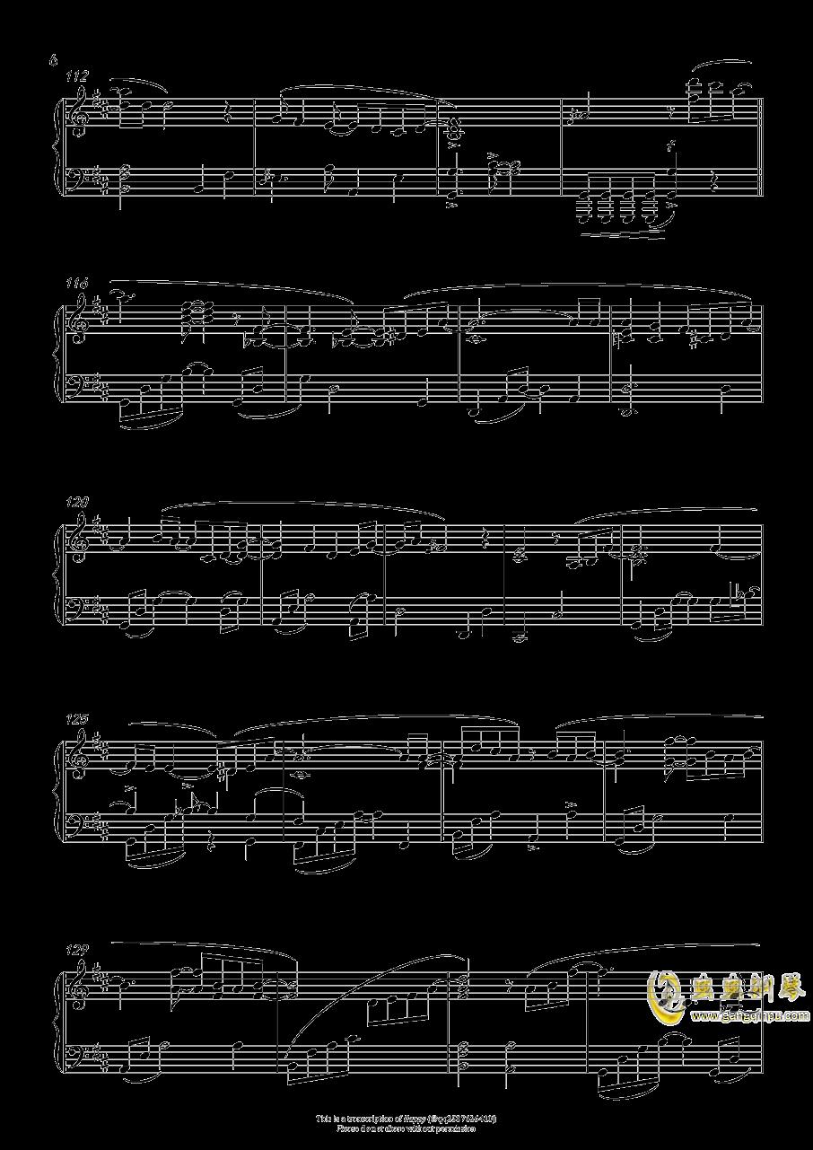 赤い�s束钢琴谱 第6页