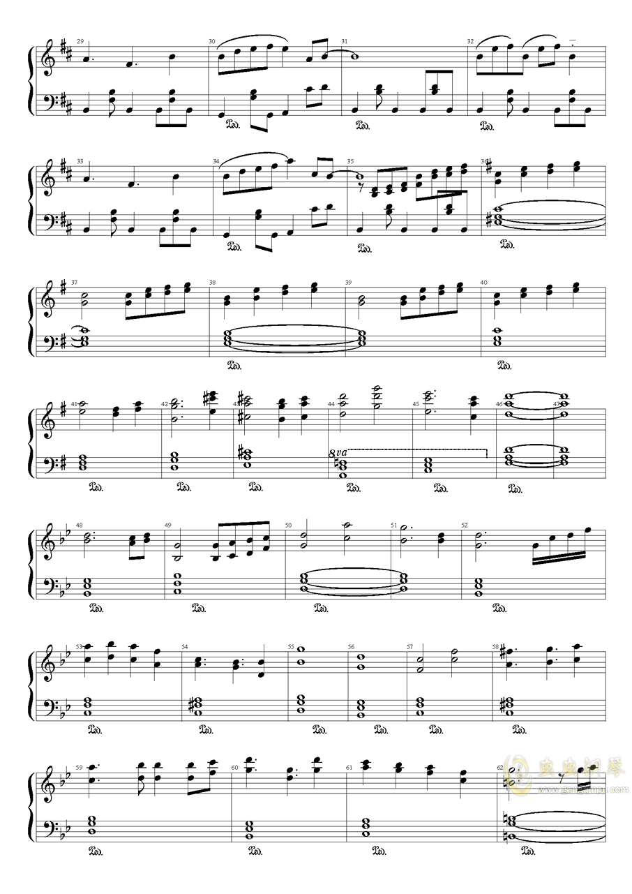 Wonderful Heaven钢琴谱 第2页