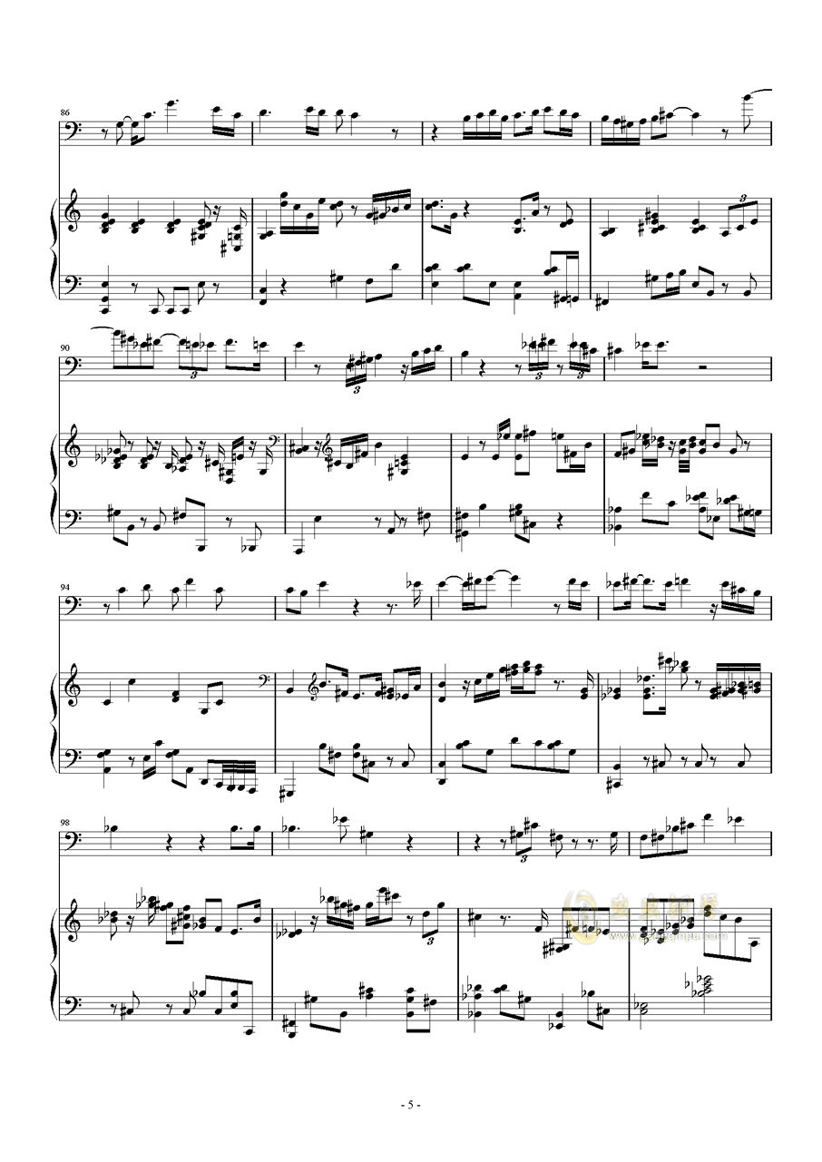 Songs and Lullabies钢琴谱 第5页