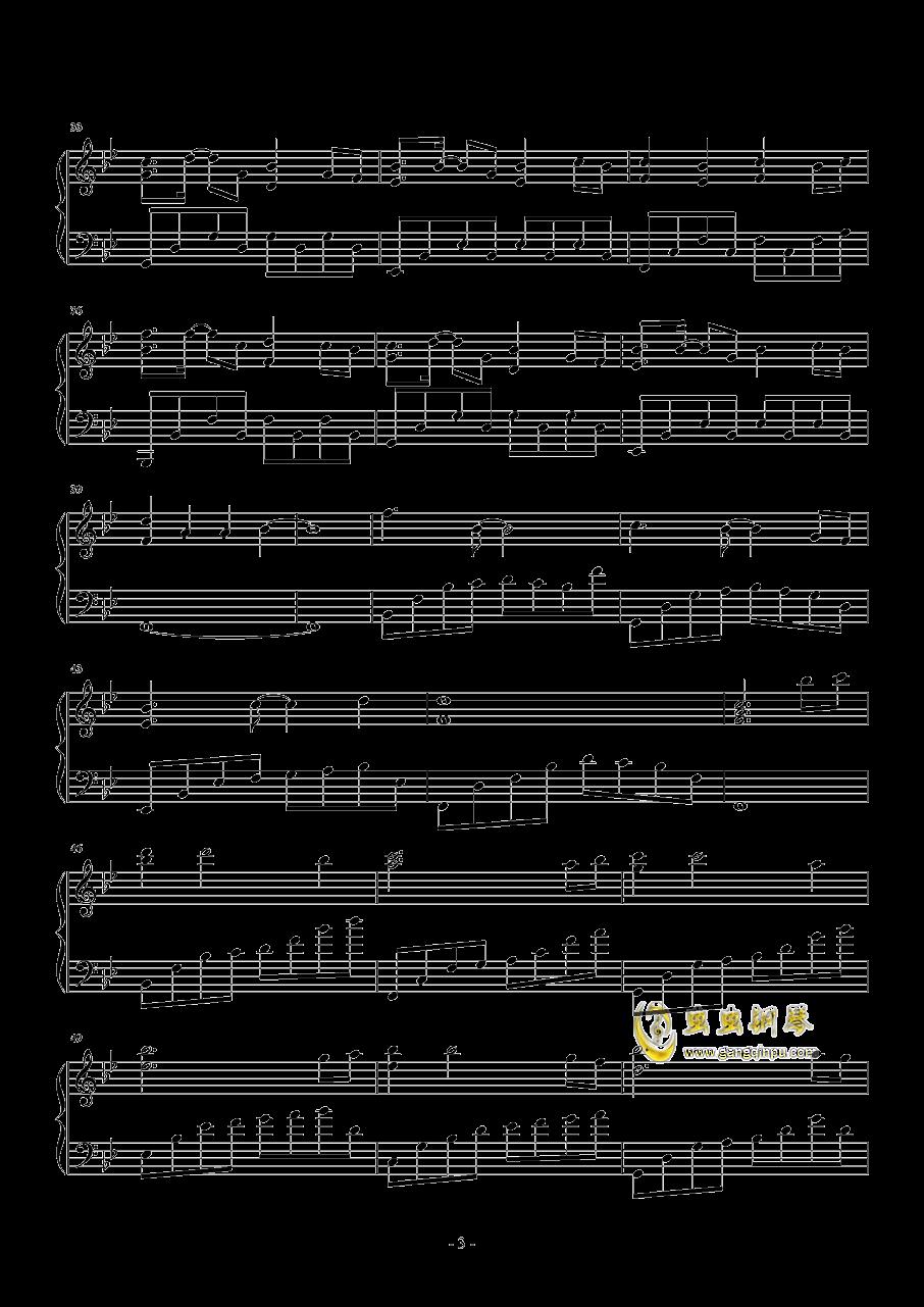 七月上钢琴谱 第3页