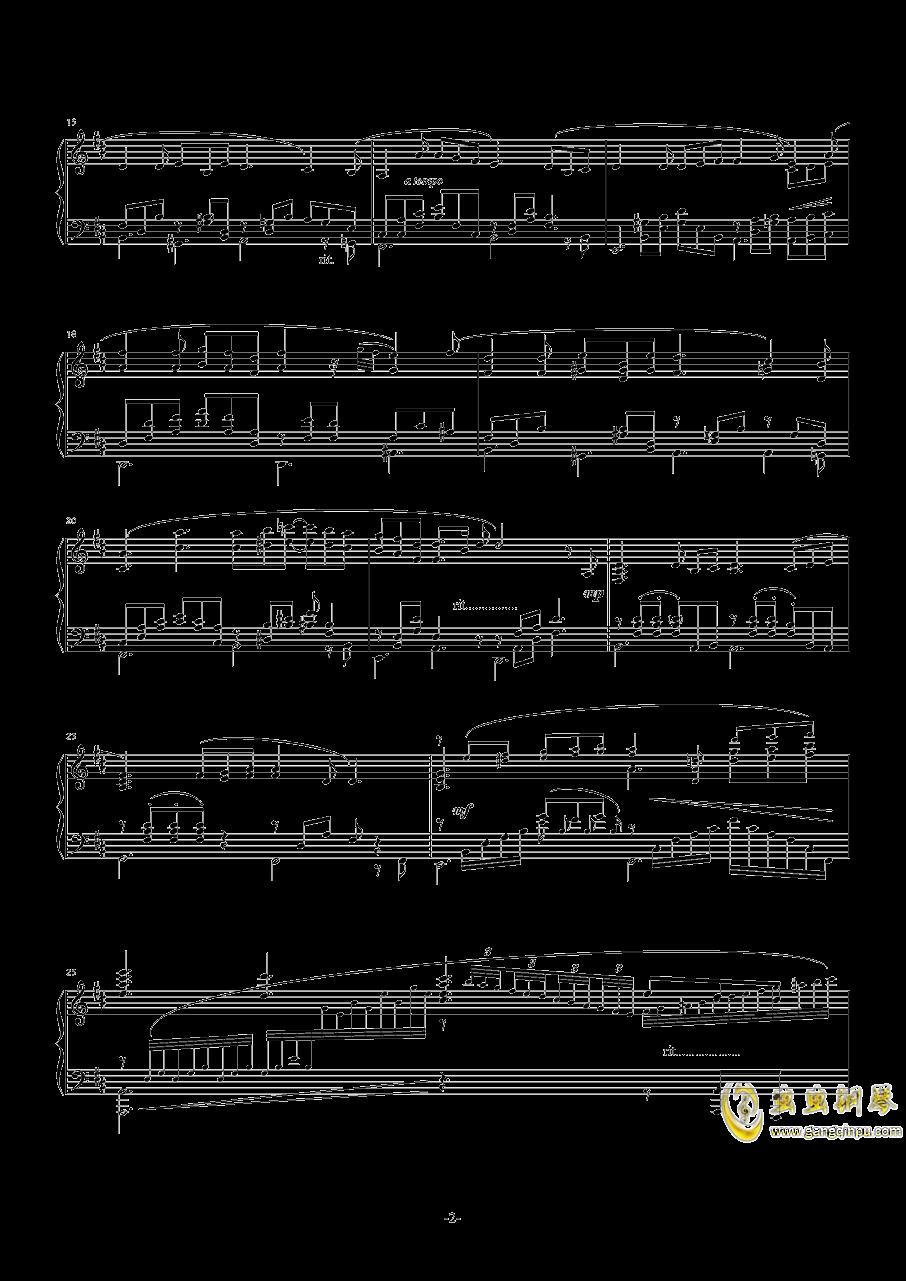 【碧蓝幻想】OST アウギュステ列�u -白沫の瀑布-钢琴谱 第2页