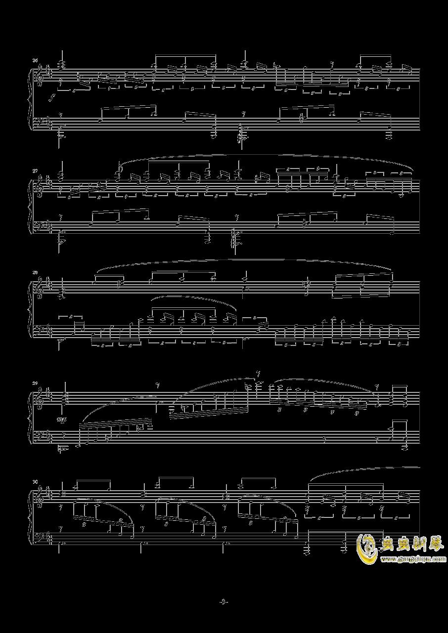【碧蓝幻想】OST アウギュステ列�u -白沫の瀑布-钢琴谱 第3页