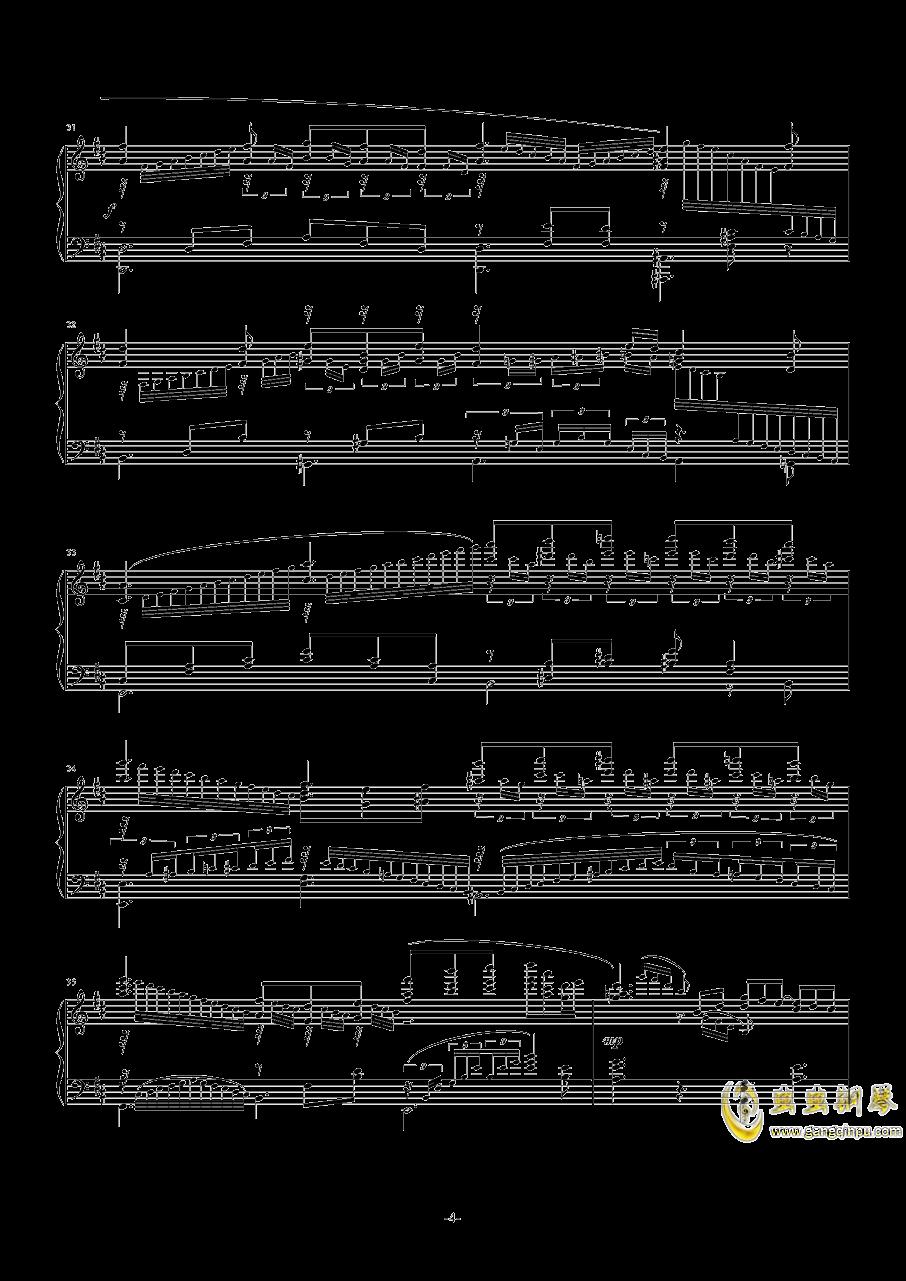 【碧蓝幻想】OST アウギュステ列�u -白沫の瀑布-钢琴谱 第4页