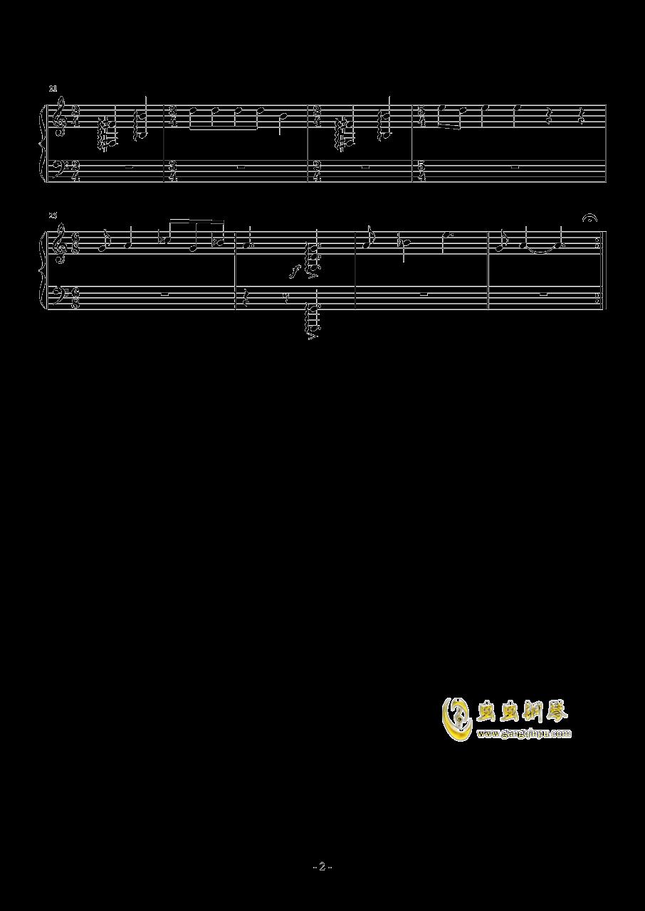 欧里庇得斯   俄瑞斯忒斯  合唱曲残存片断钢琴谱 第2页