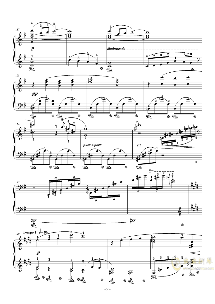 Final Fantasy 7 Main Theme钢琴谱 第9页