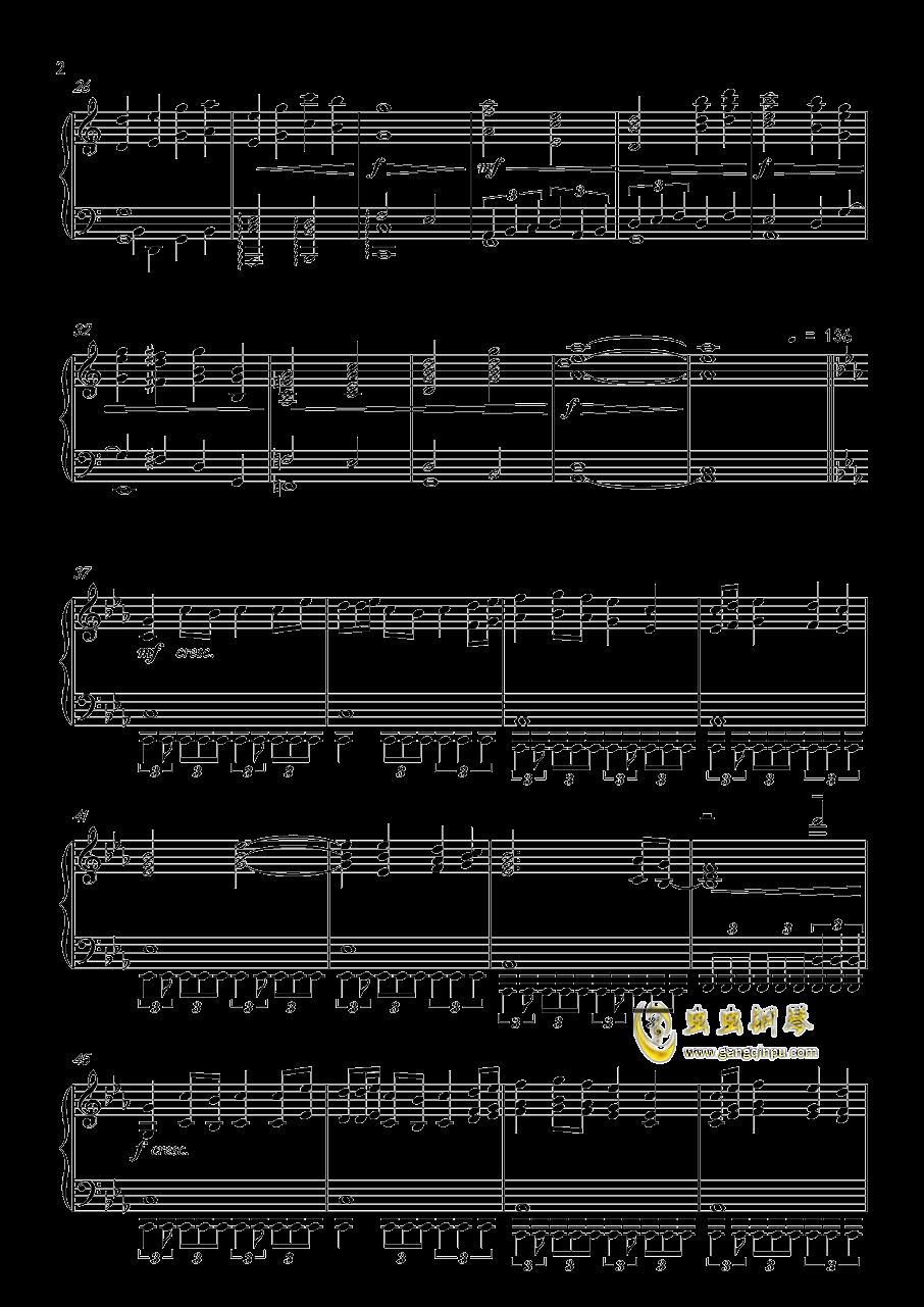 怪物猎人世界-星に�lられて钢琴谱 第2页