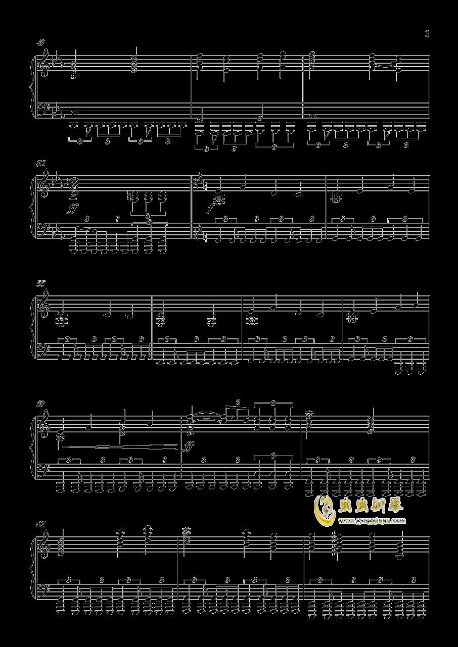 怪物猎人世界-星に�lられて钢琴谱 第3页