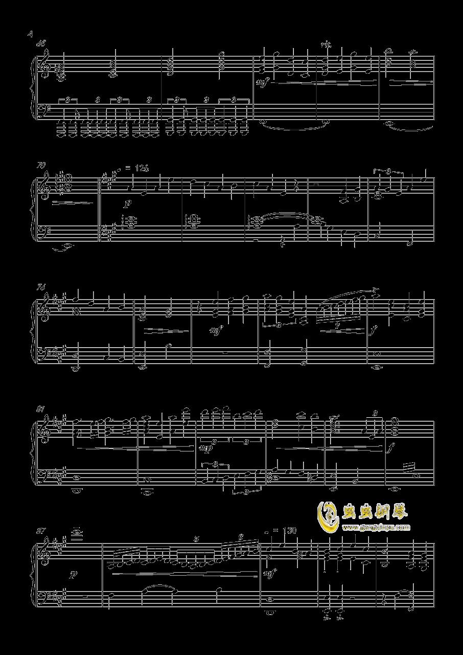 怪物猎人世界-星に�lられて钢琴谱 第4页