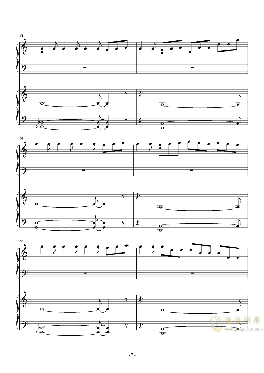 昴宿星团舞曲钢琴谱 第7页