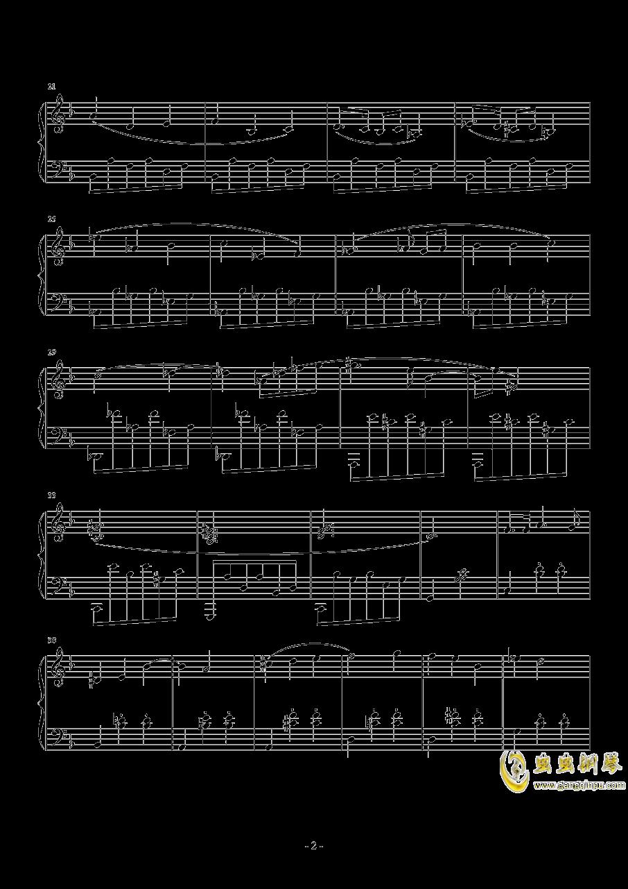 A大调奏鸣曲-第二乐章钢琴谱 第2页