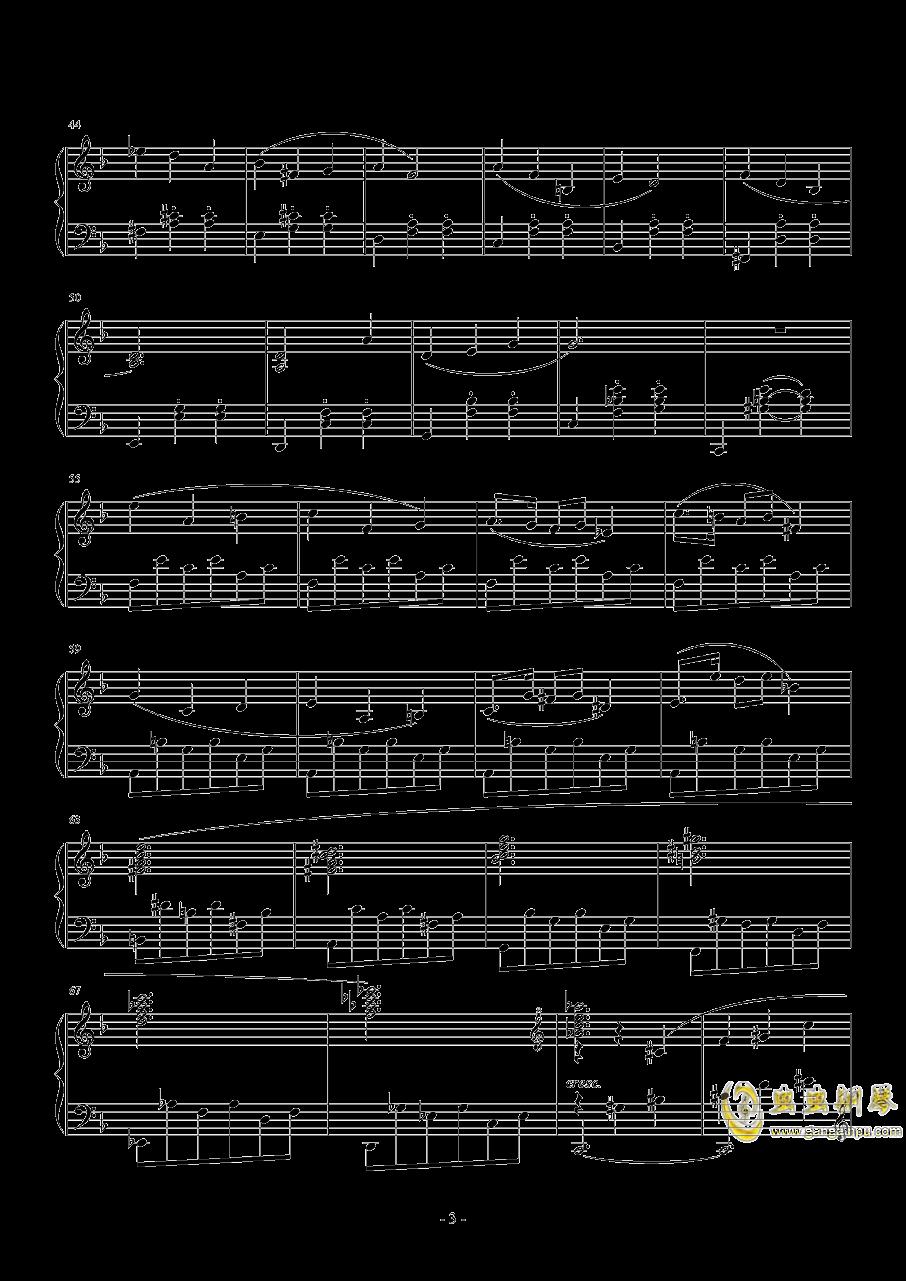 A大调奏鸣曲-第二乐章钢琴谱 第3页