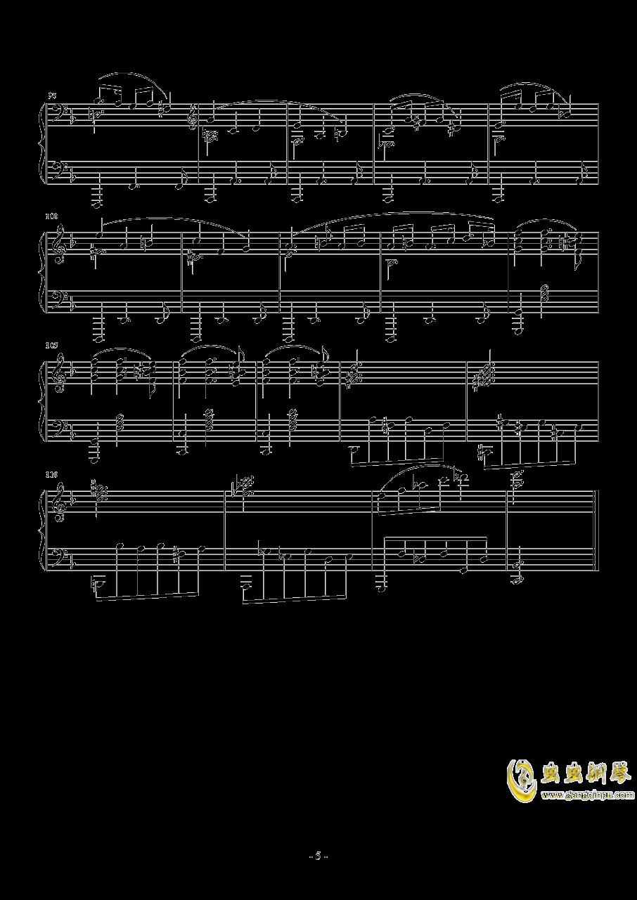A大调奏鸣曲-第二乐章钢琴谱 第5页
