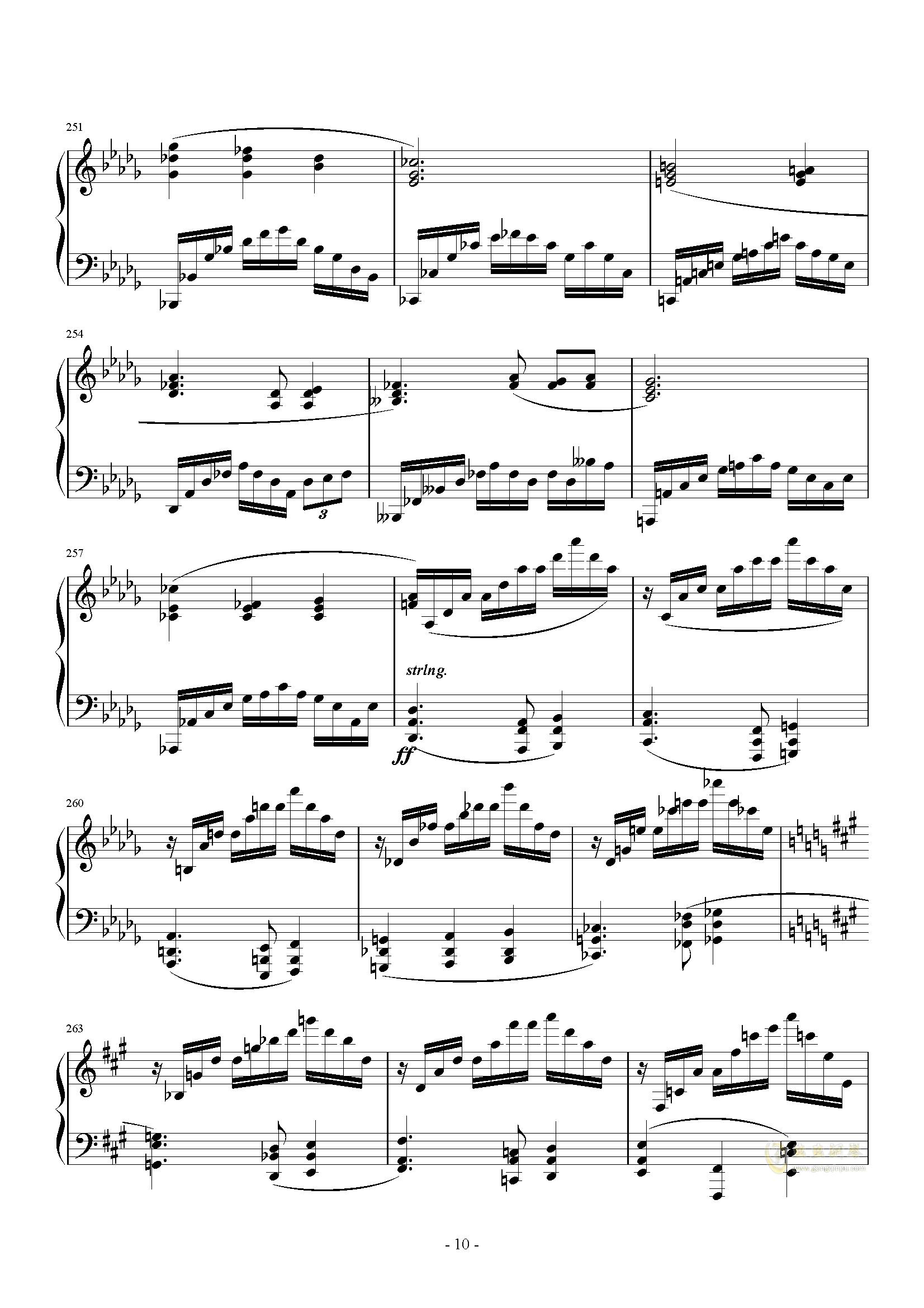 A大调奏鸣曲-第三乐章钢琴谱 第10页