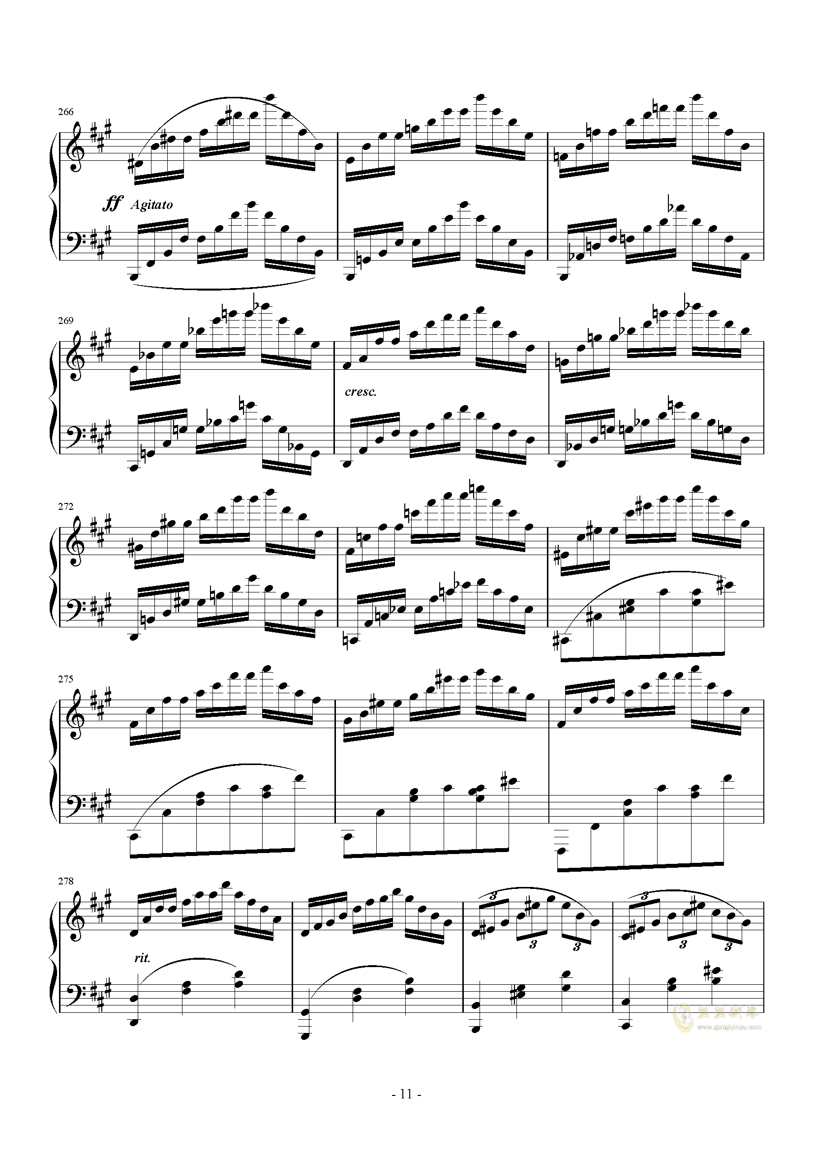 A大调奏鸣曲-第三乐章钢琴谱 第11页