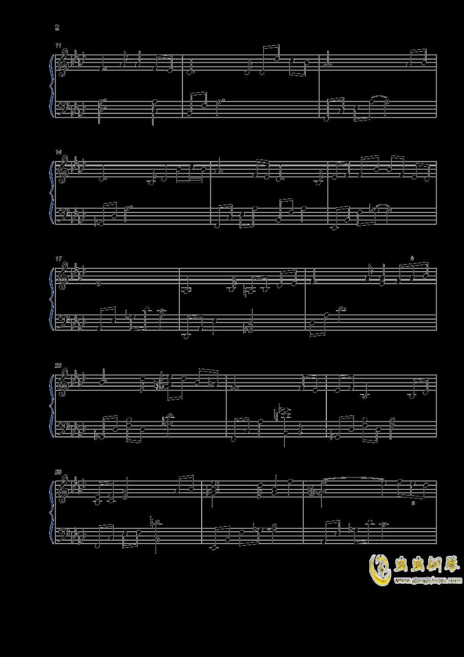 如歌钢琴谱 第2页