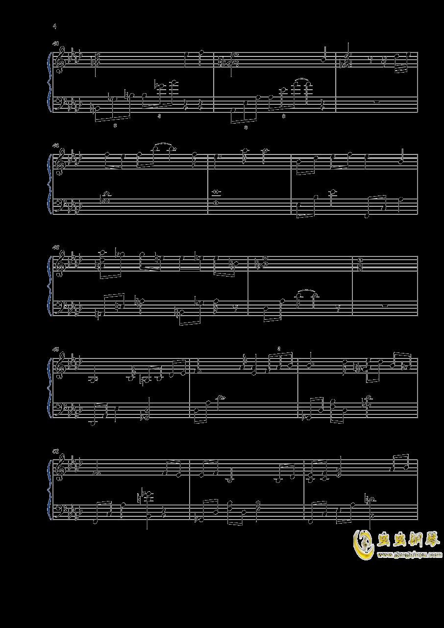 如歌钢琴谱 第4页
