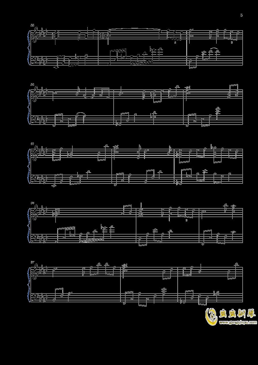 如歌钢琴谱 第5页