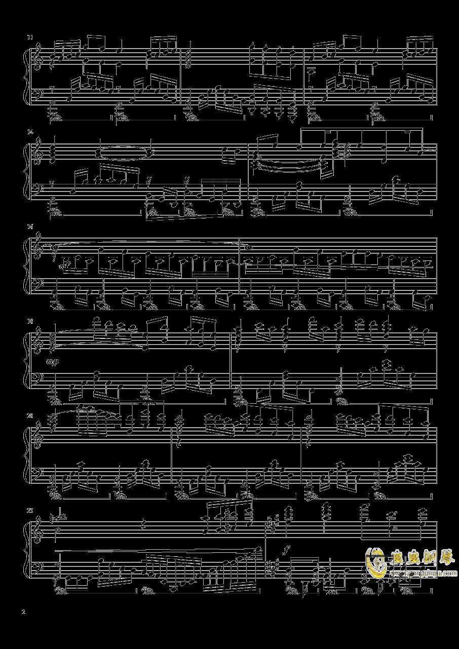 形势逆转naruto bgm钢琴谱 第2页