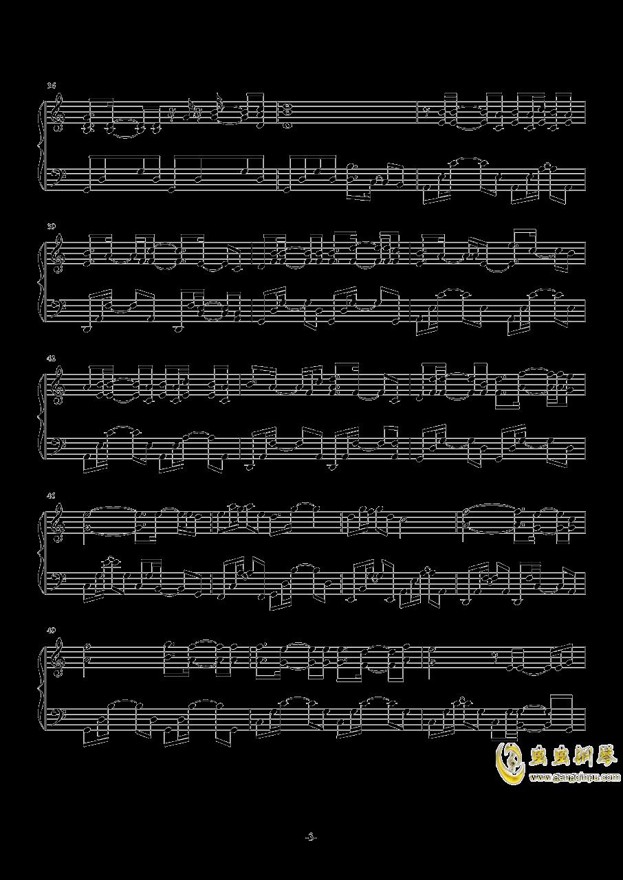 November Sky钢琴谱 第3页
