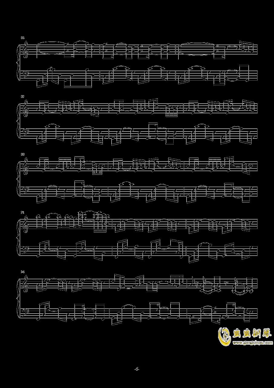 November Sky钢琴谱 第6页
