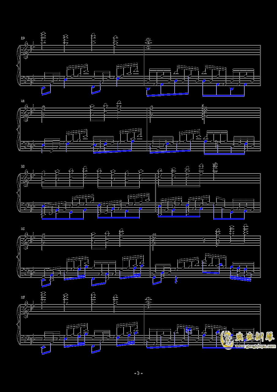 飘上月球钢琴谱 第3页