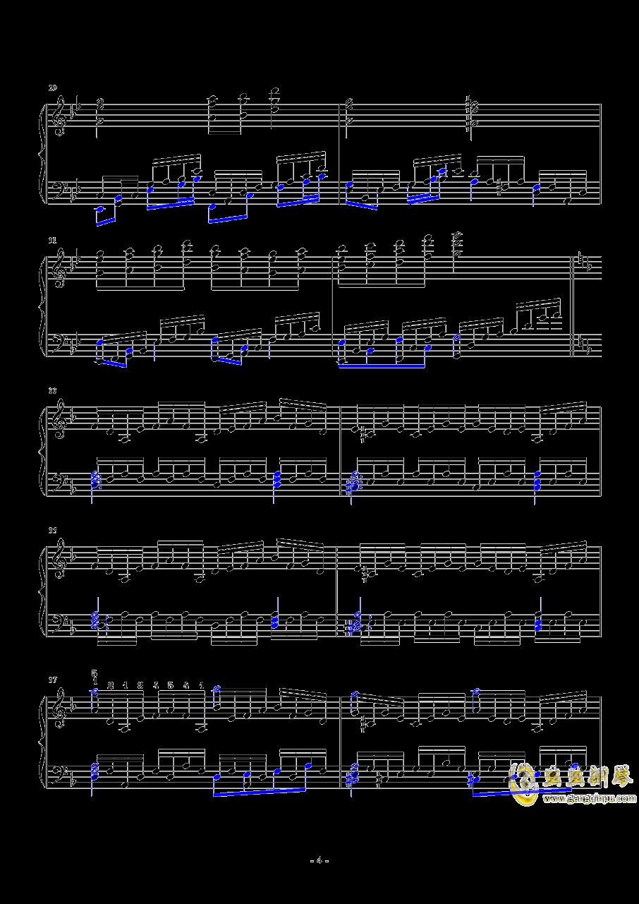 飘上月球钢琴谱 第4页