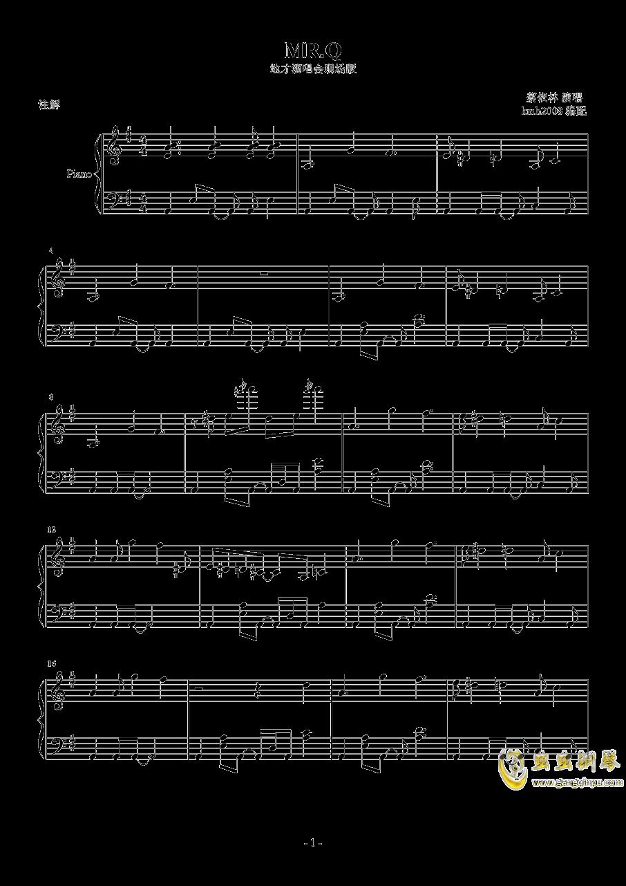 MR.Q钢琴谱 第1页