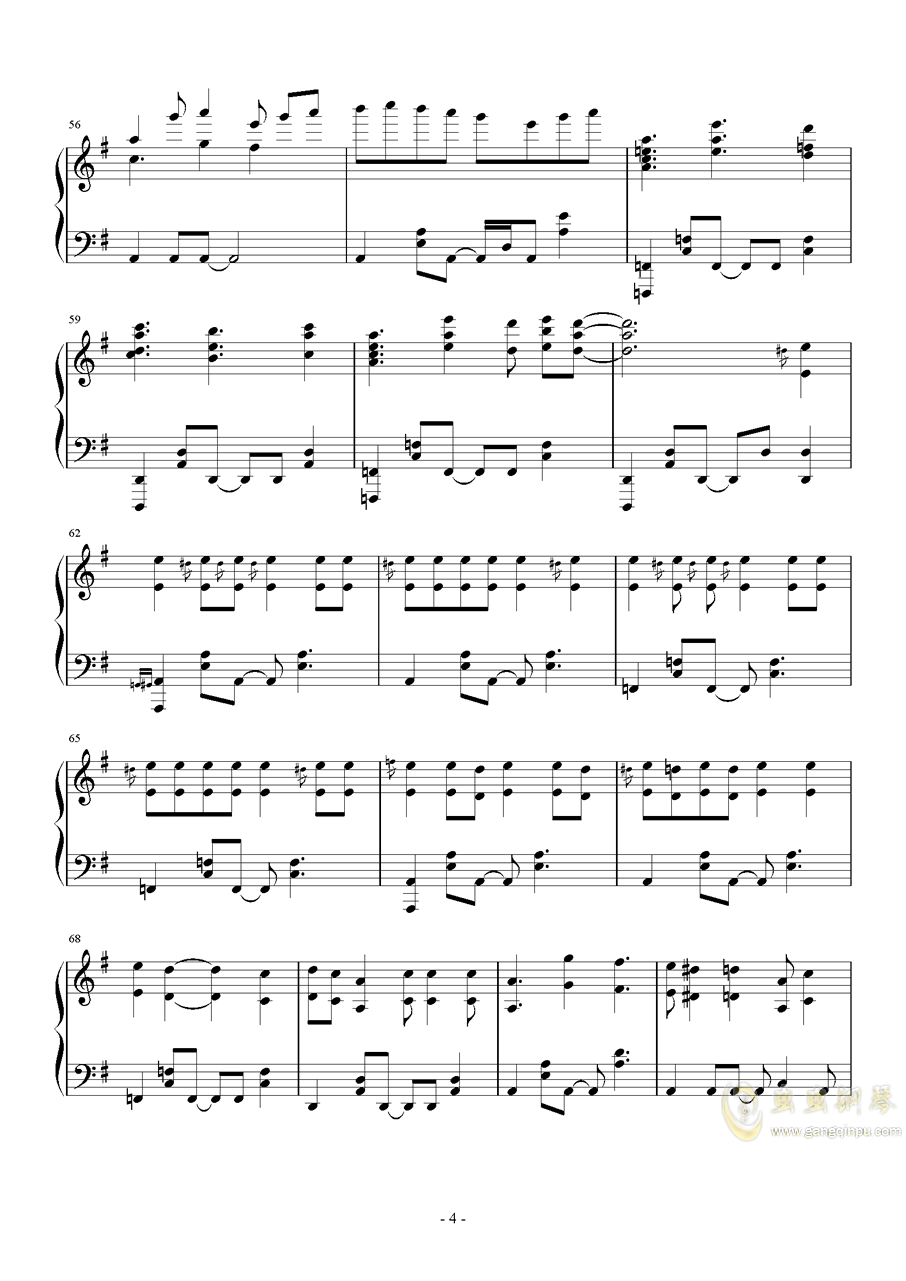 MR.Q钢琴谱 第4页