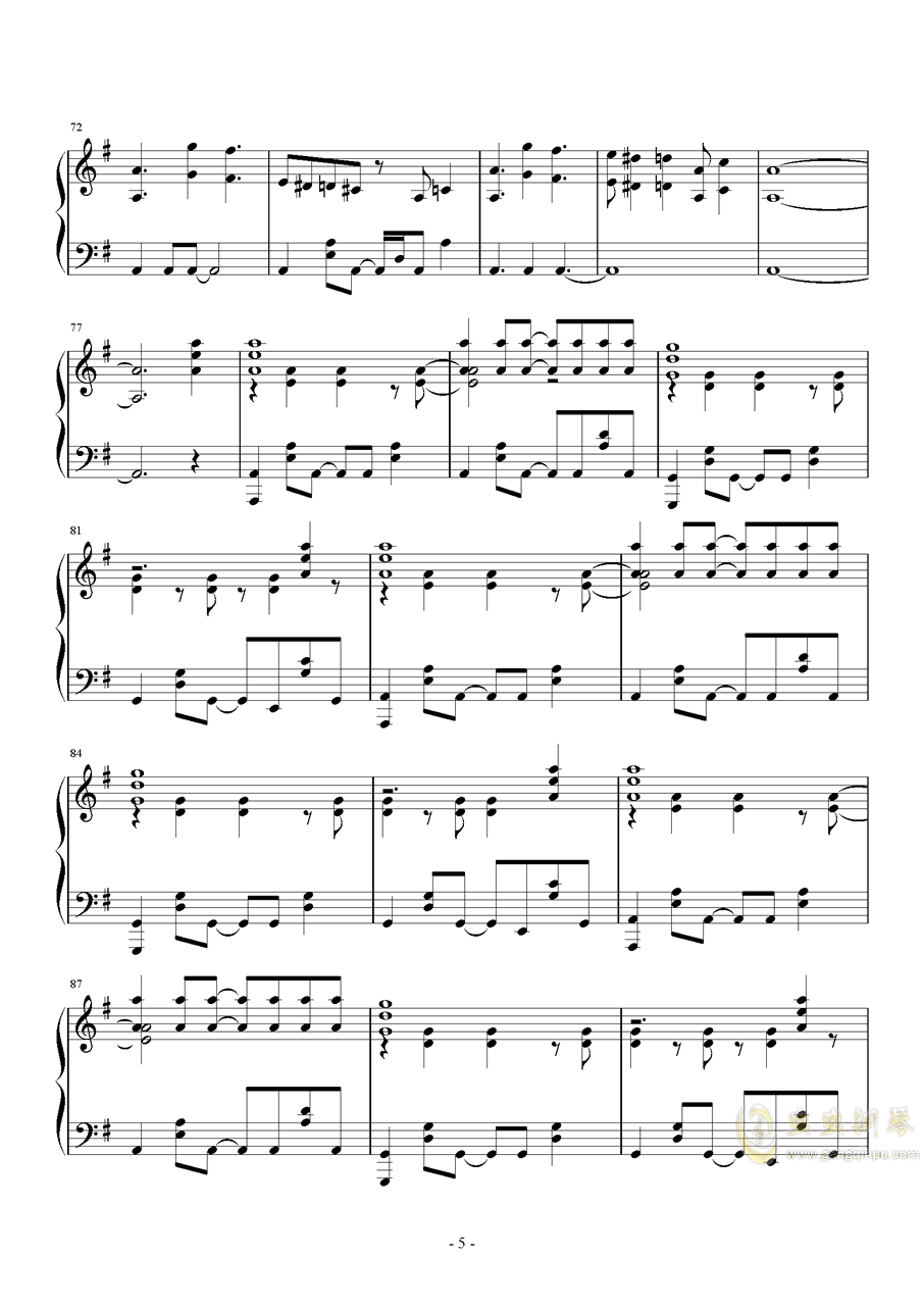 MR.Q钢琴谱 第5页