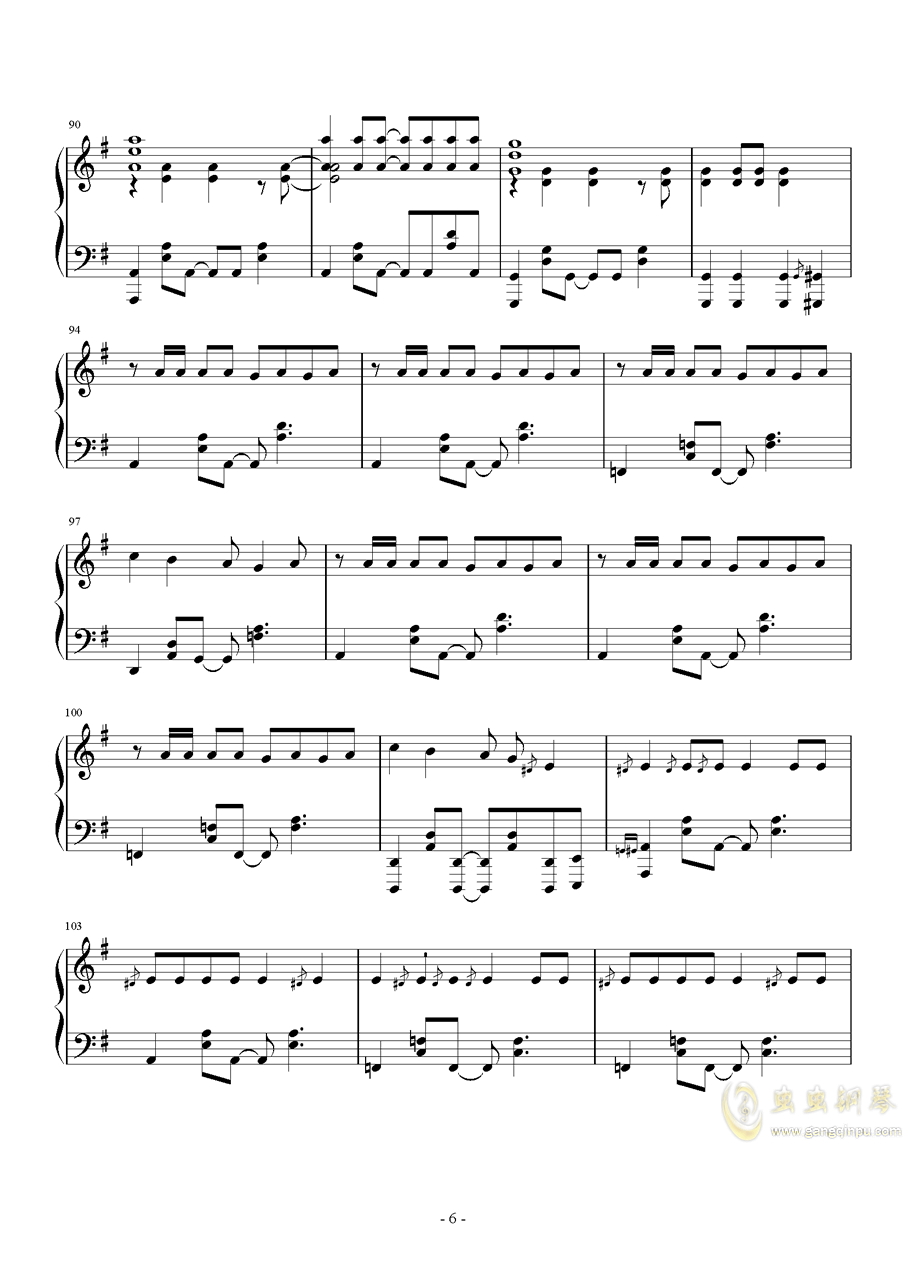 MR.Q钢琴谱 第6页