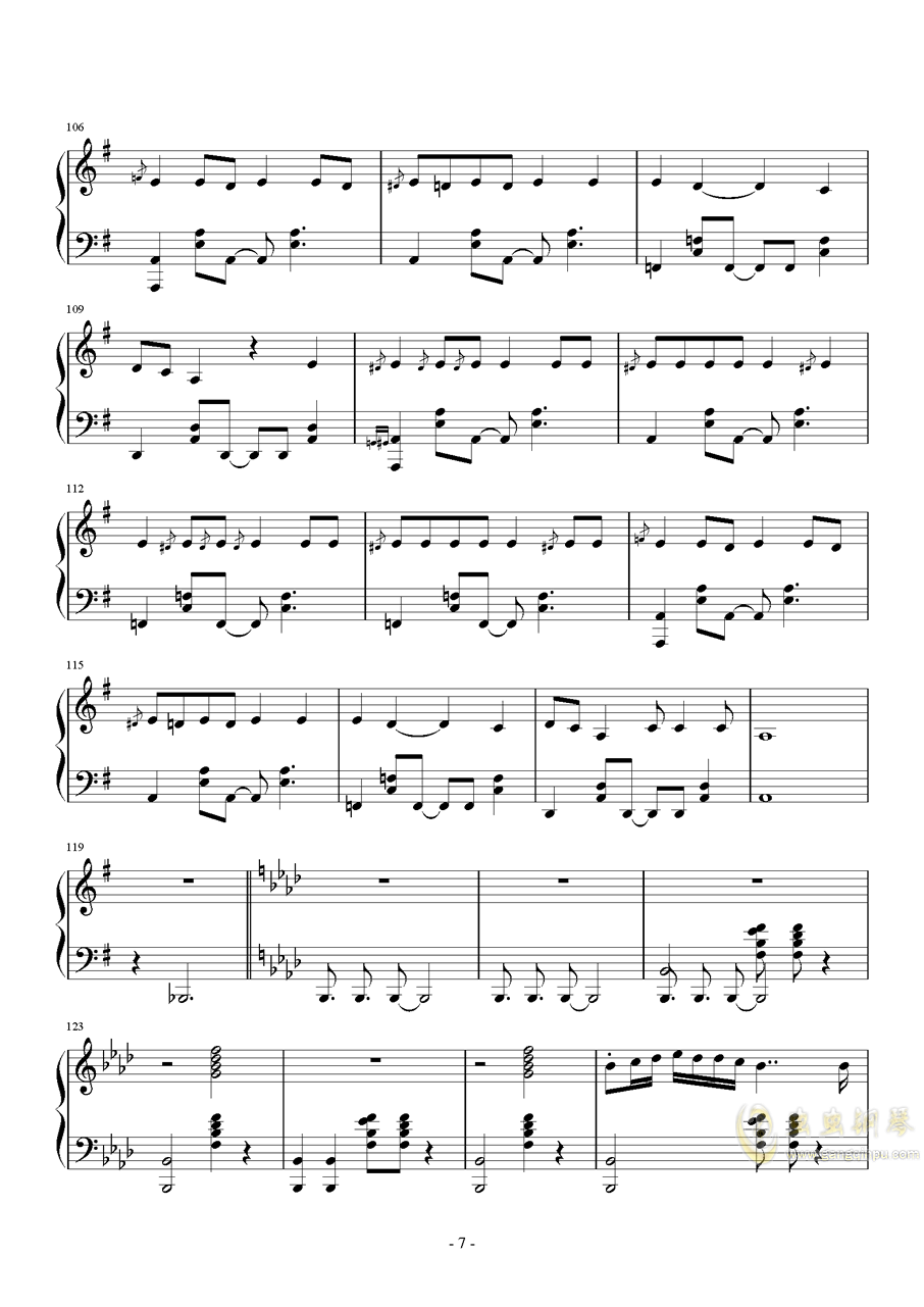 MR.Q钢琴谱 第7页