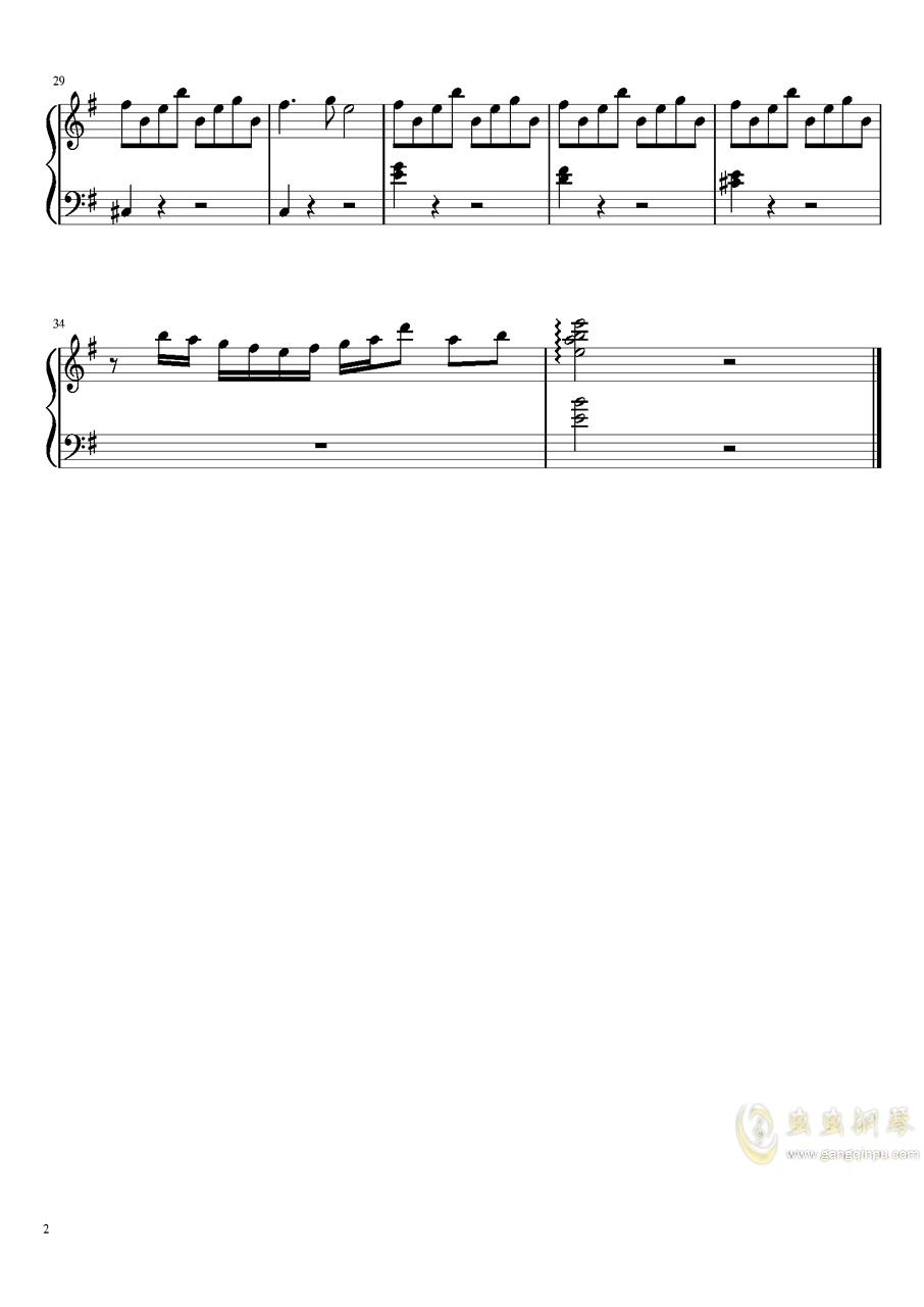 HERO_-Summer_Stardust_Version钢琴谱 第2页