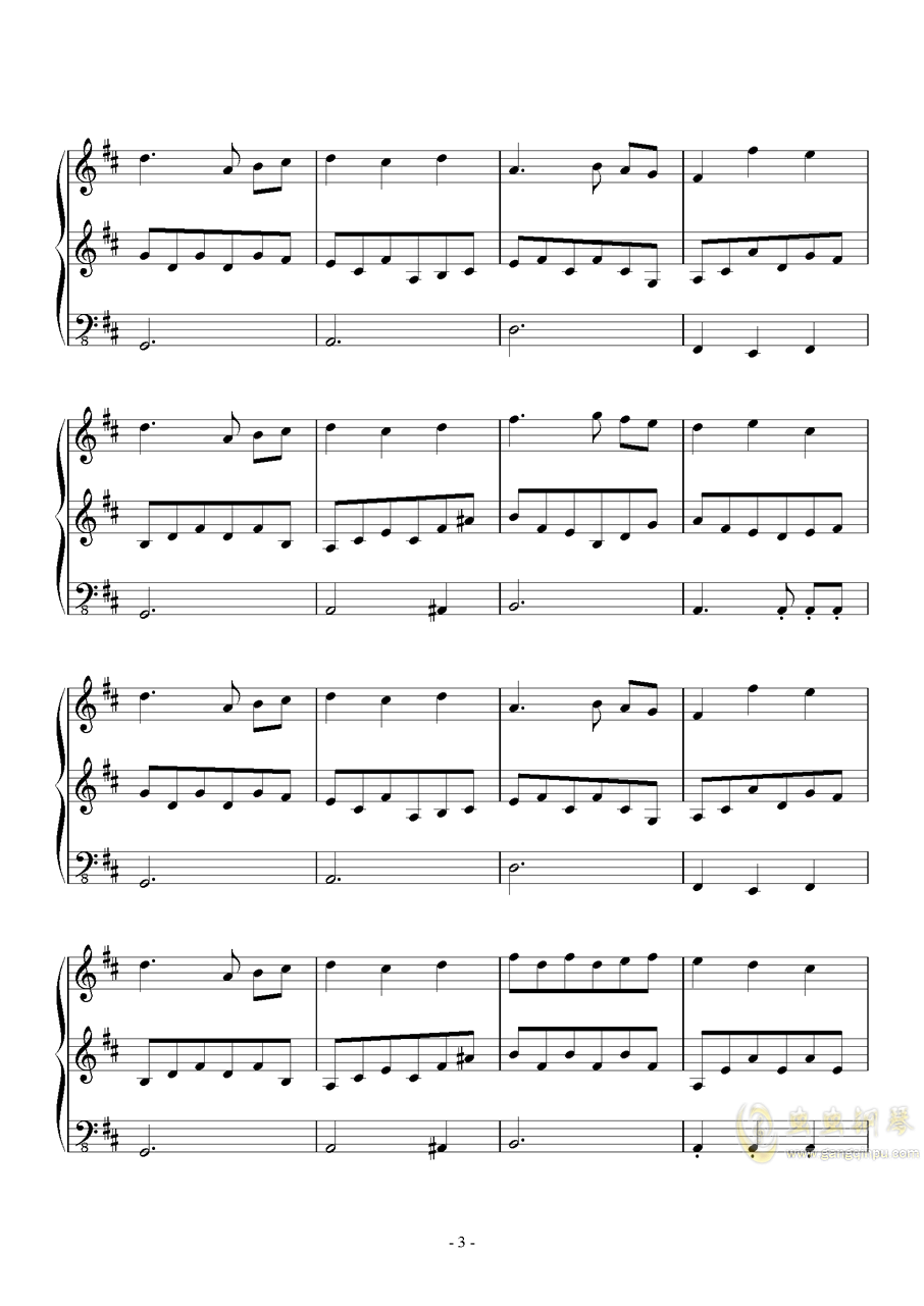 Fallen Down (Reprise)钢琴谱 第3页