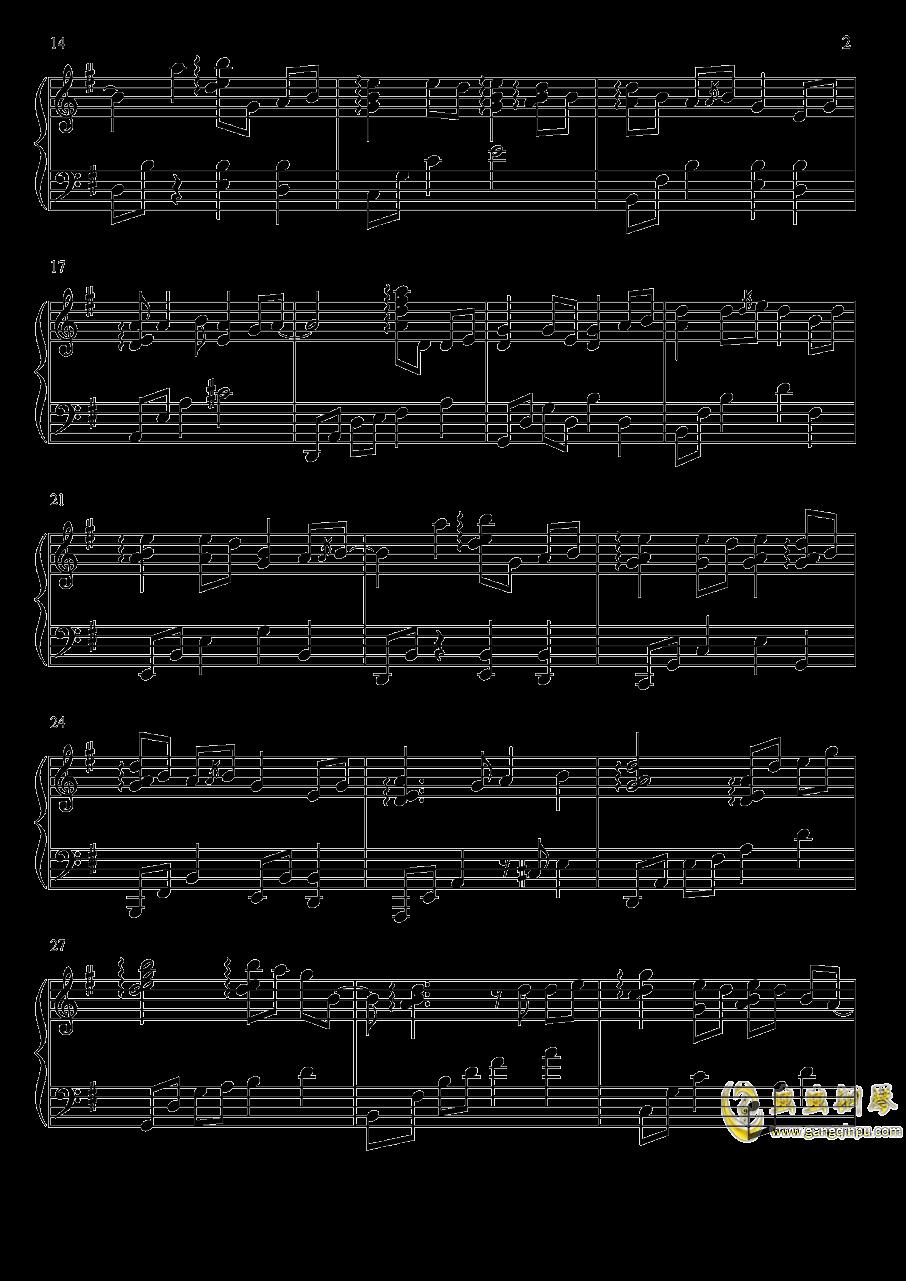 渡红尘钢琴谱 第2页