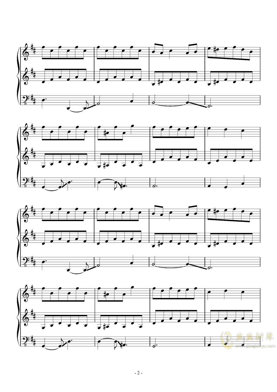 Fallen Down (Reprise)钢琴谱 第2页