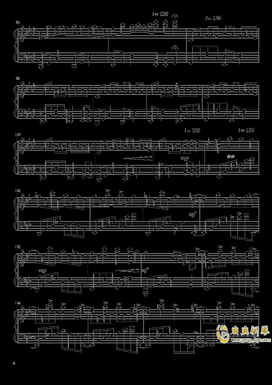 片翼の天使 钢琴谱 第6页