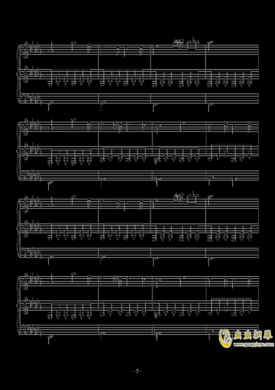 Fallen Down (Reprise)钢琴谱 第5页